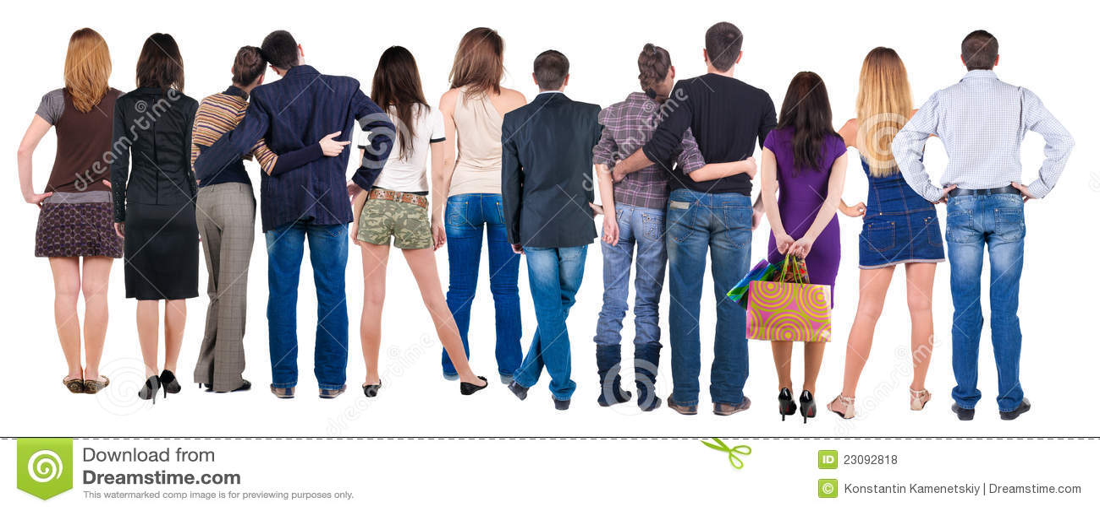 Grupo de personas posterior de la visión