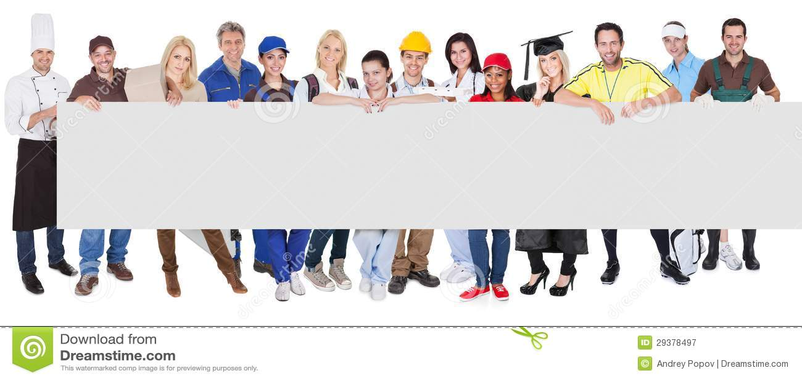 Grupo de profesionales diversos