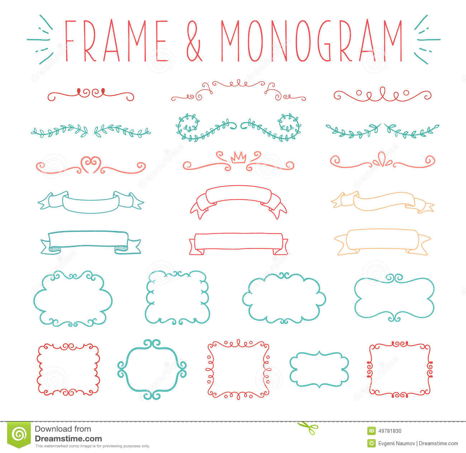 Grupo de projeto simples e gracioso do monograma
