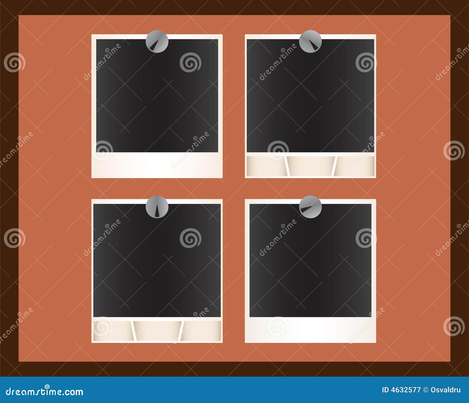 Grupo de retratos do Polaroid