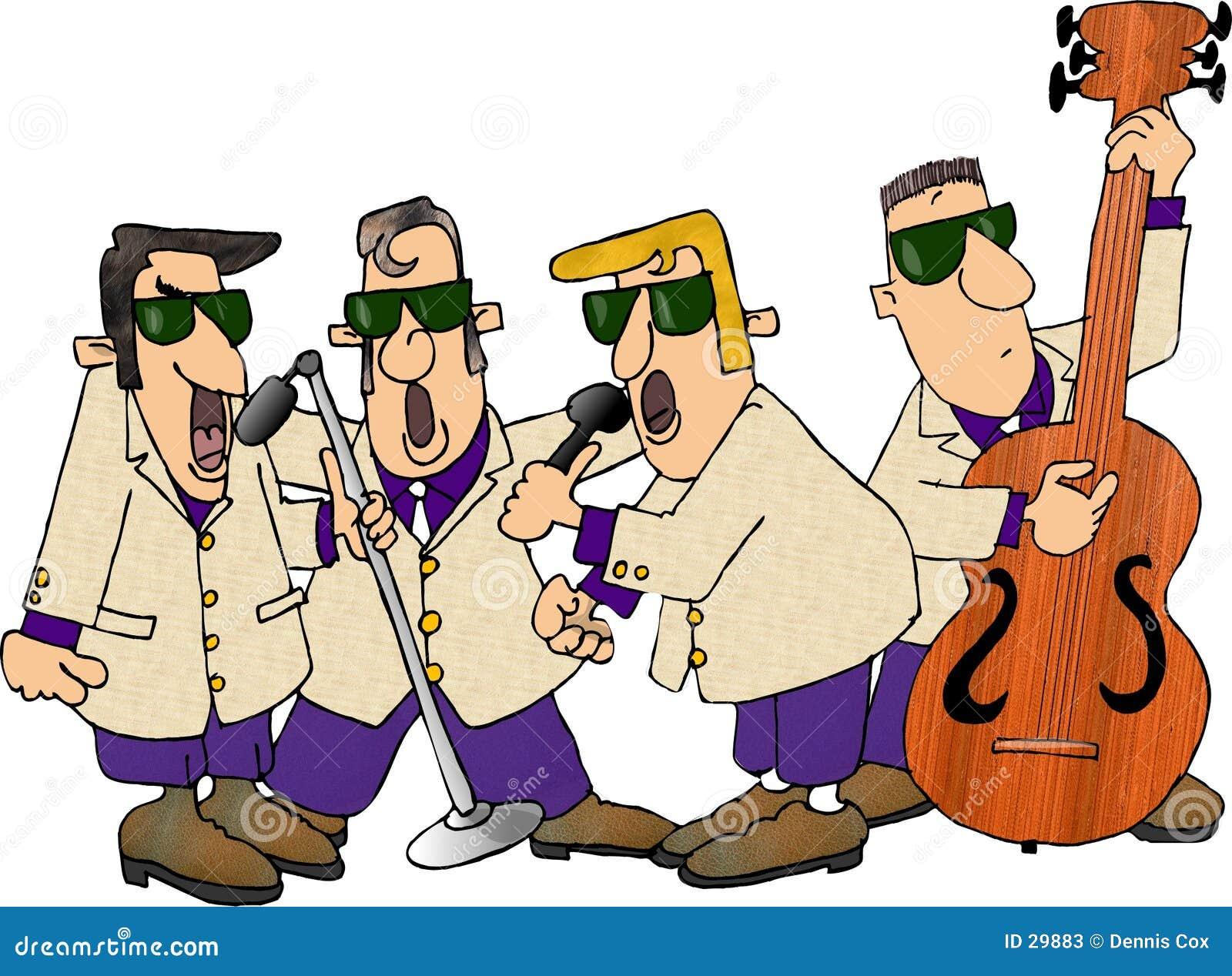 Download Grupo De Roca De Los Años 50 Stock de ilustración - Ilustración de cante, dennis: 29883