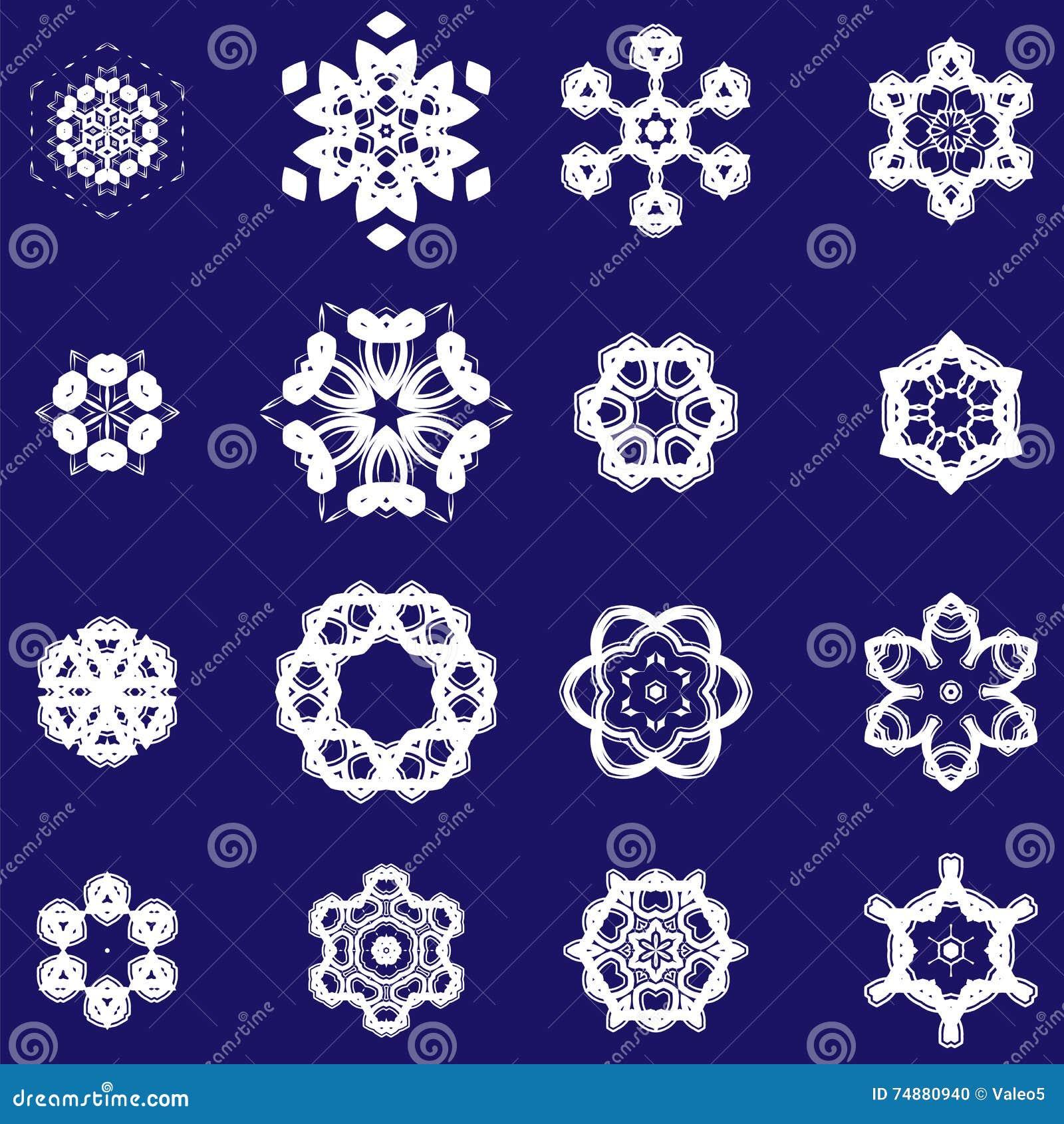 Grupo de rosetas decorativas diferentes