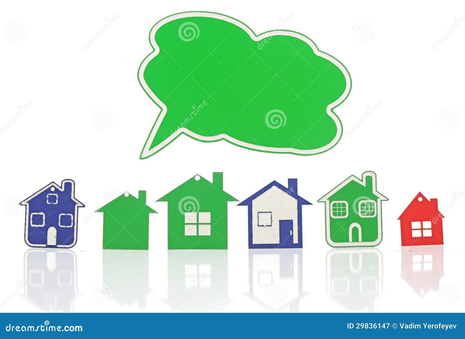 Grupo de símbolo modelo da casa