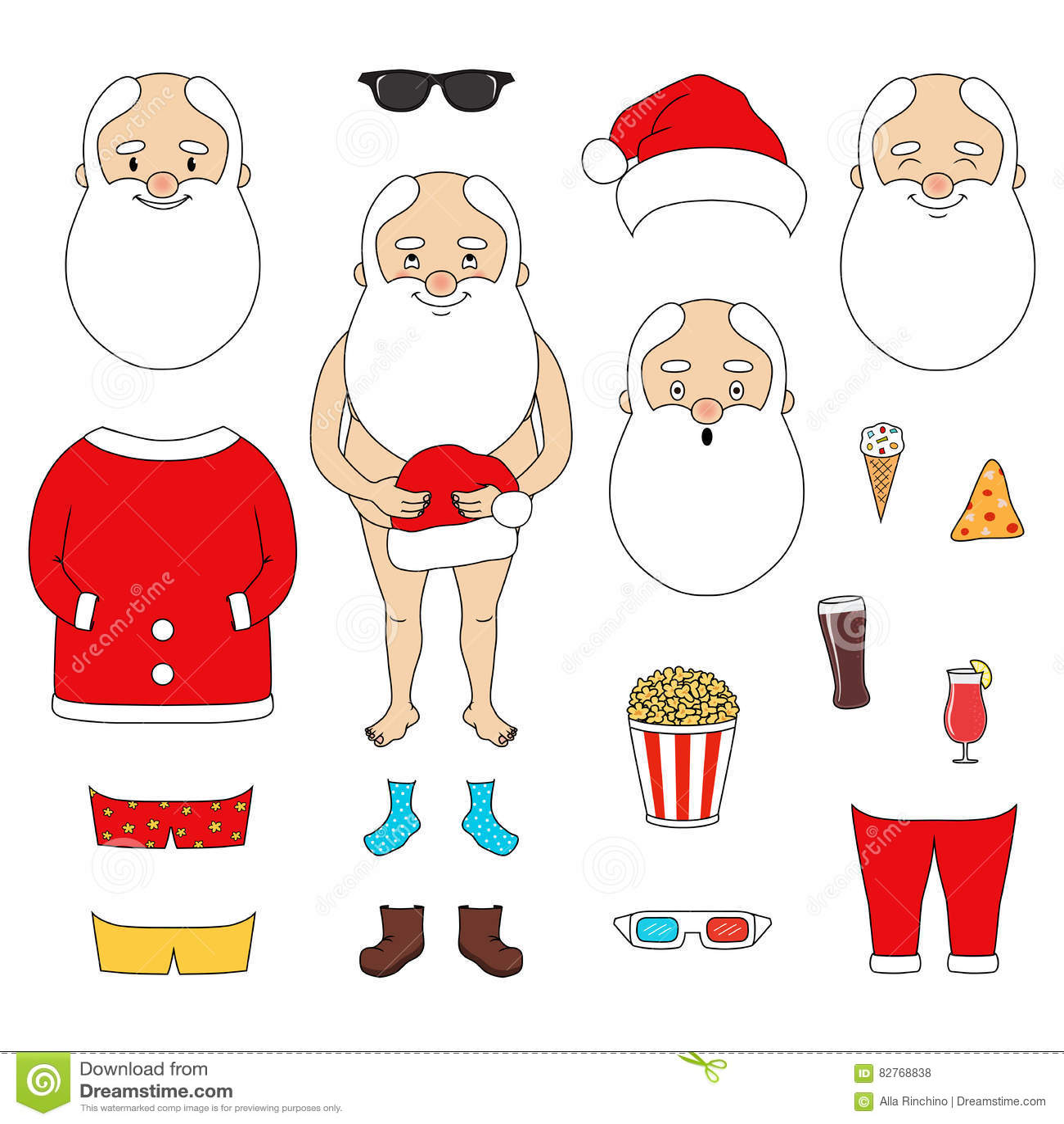 Grupo de Santa Claus do criador