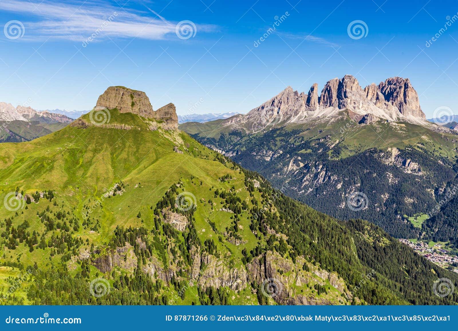 Grupo de Sassolungo Langkofel - dolomites, Itália