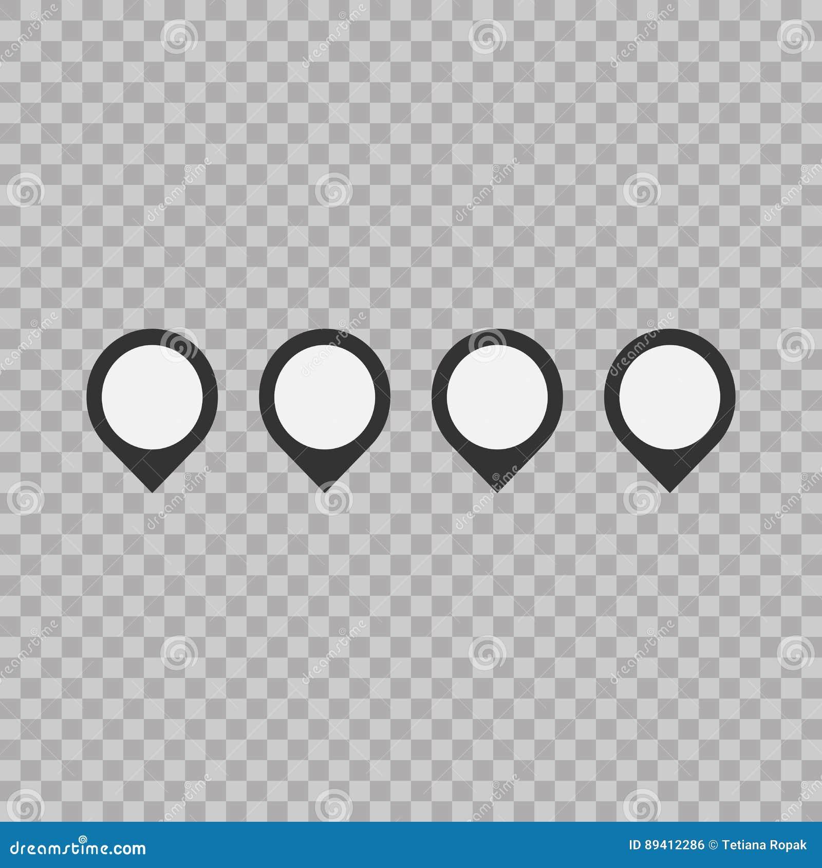 Grupo de sinal do ponteiro da marca Ícones lisos do estilo no fundo transparente Estilo liso na moda para o projeto gráfico, site