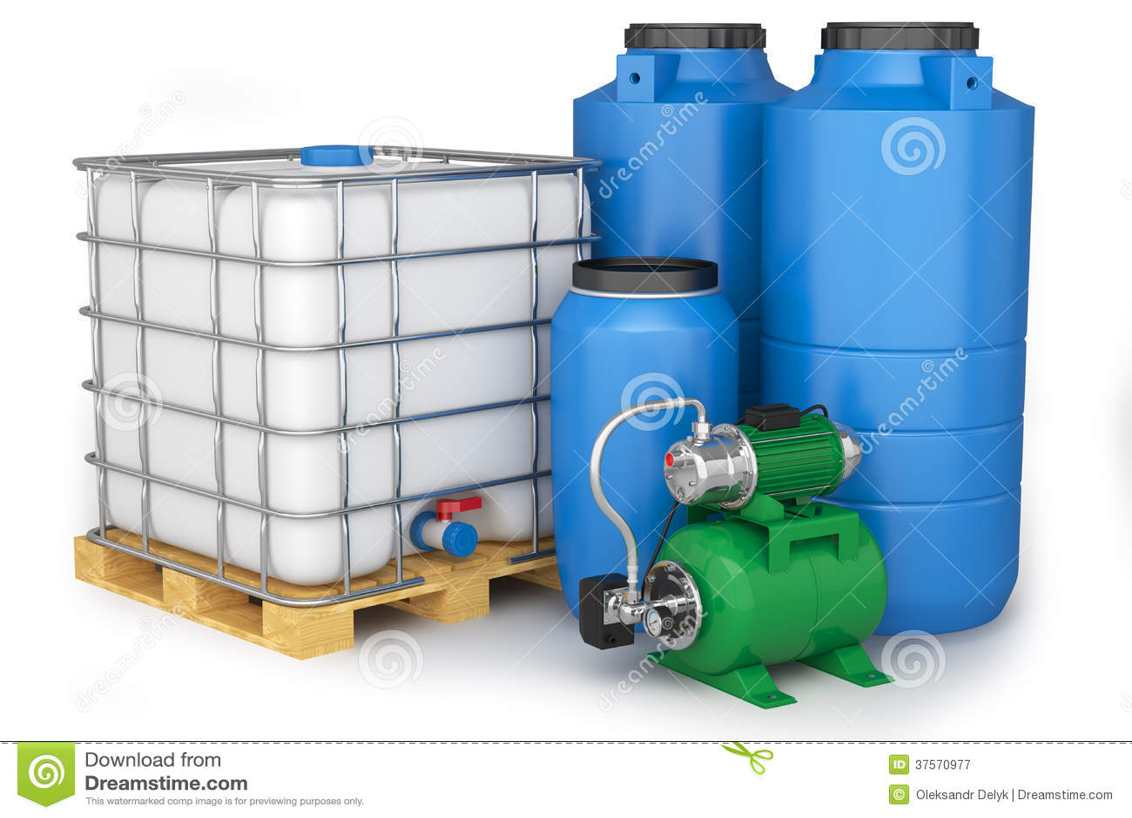 grupo de tanques de gua e de esta o de bombeamento On estanques de agua plasticos
