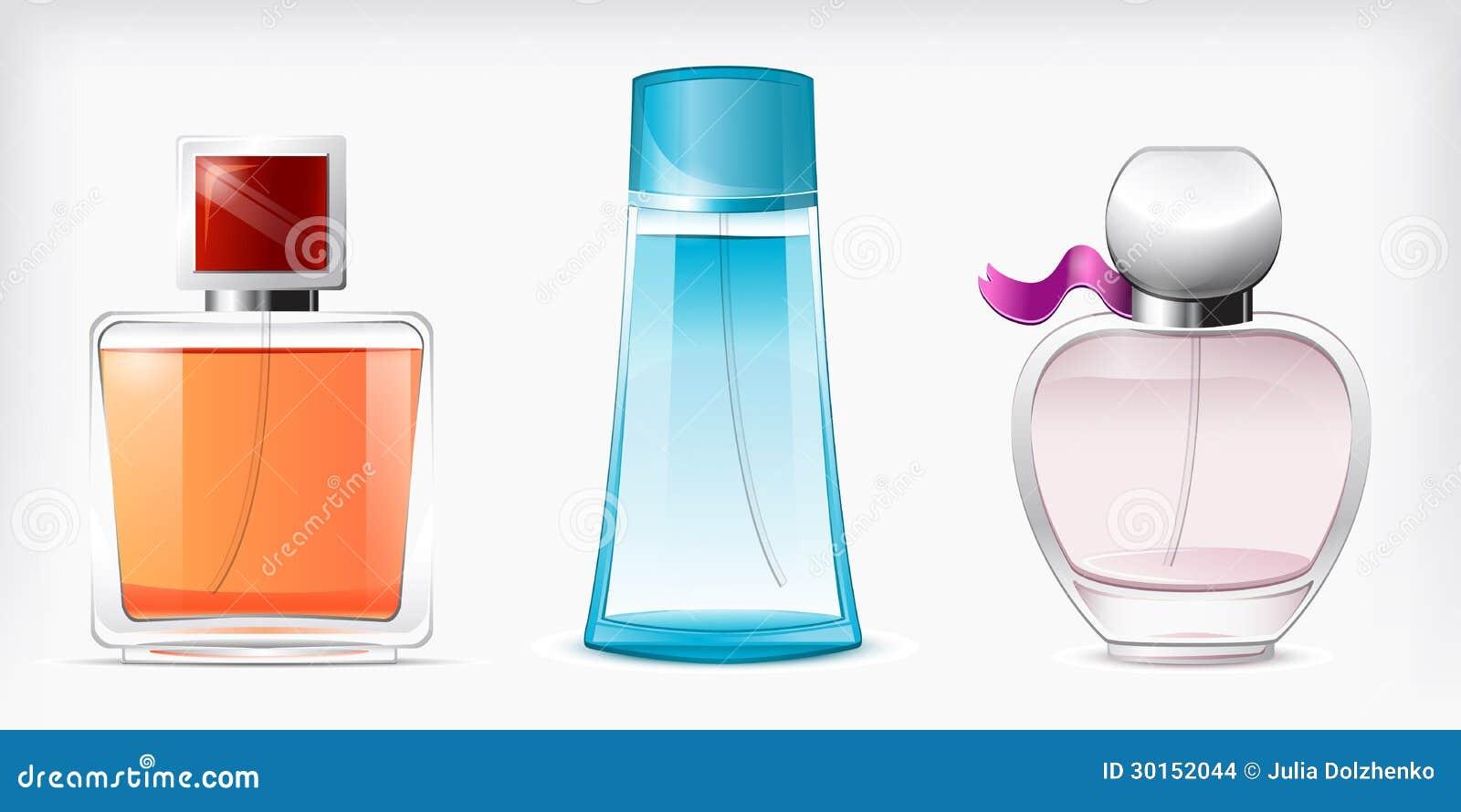 Vetor isolado perfumes