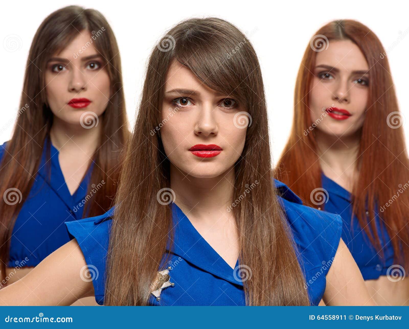 nenas eroticas grupo de tres
