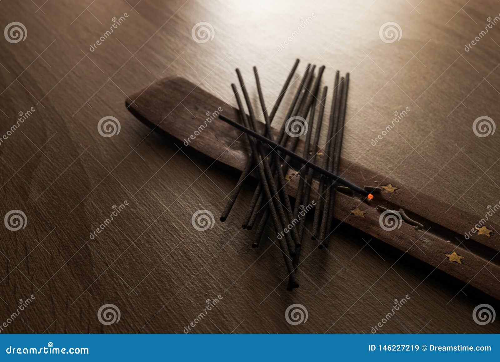 Grupo de varas do incenso