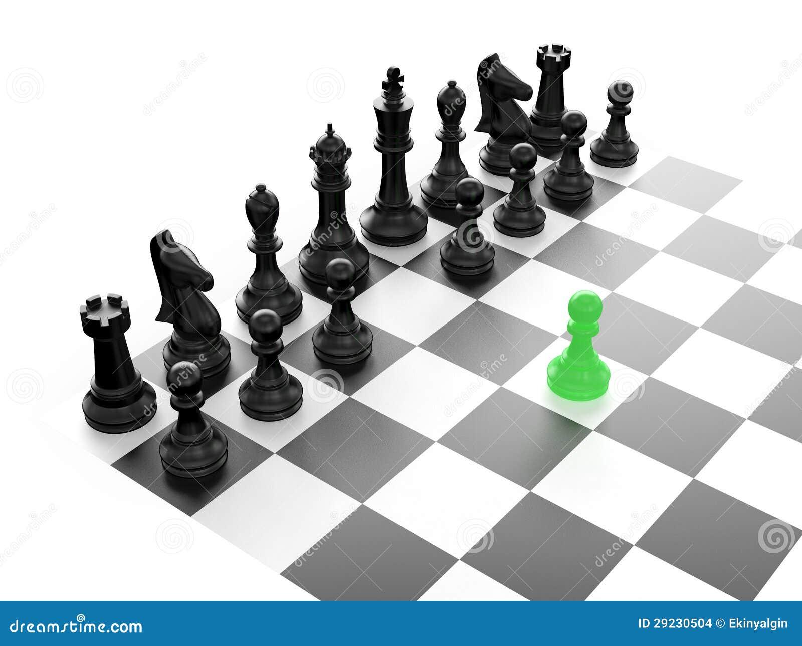 Download Grupo de xadrez preto ilustração stock. Ilustração de diferença - 29230504