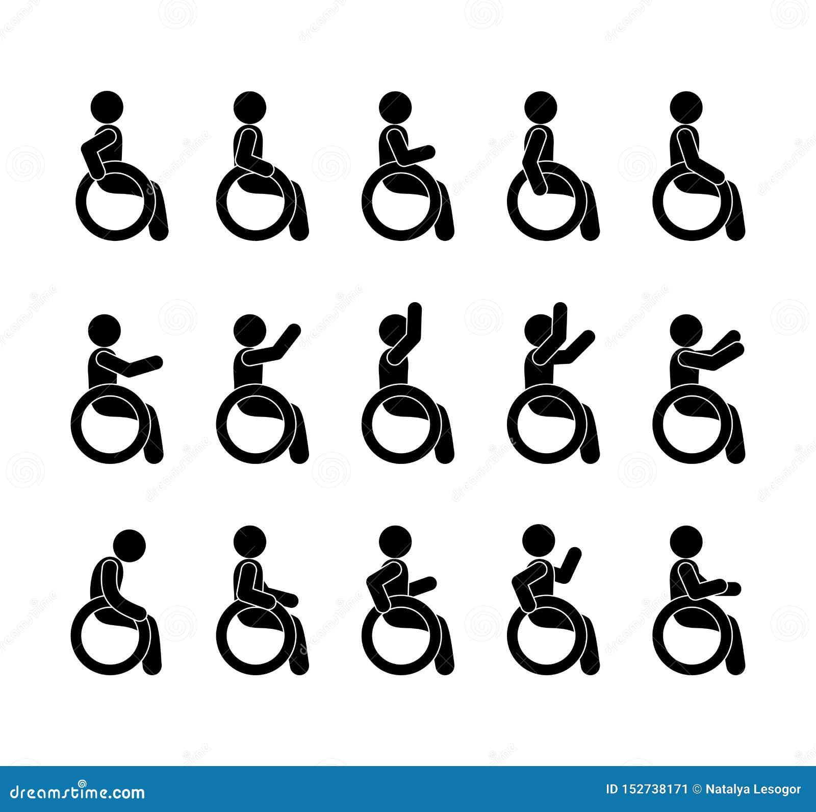 Grupo deficiente e deficiente com os povos nas cadeiras de rodas