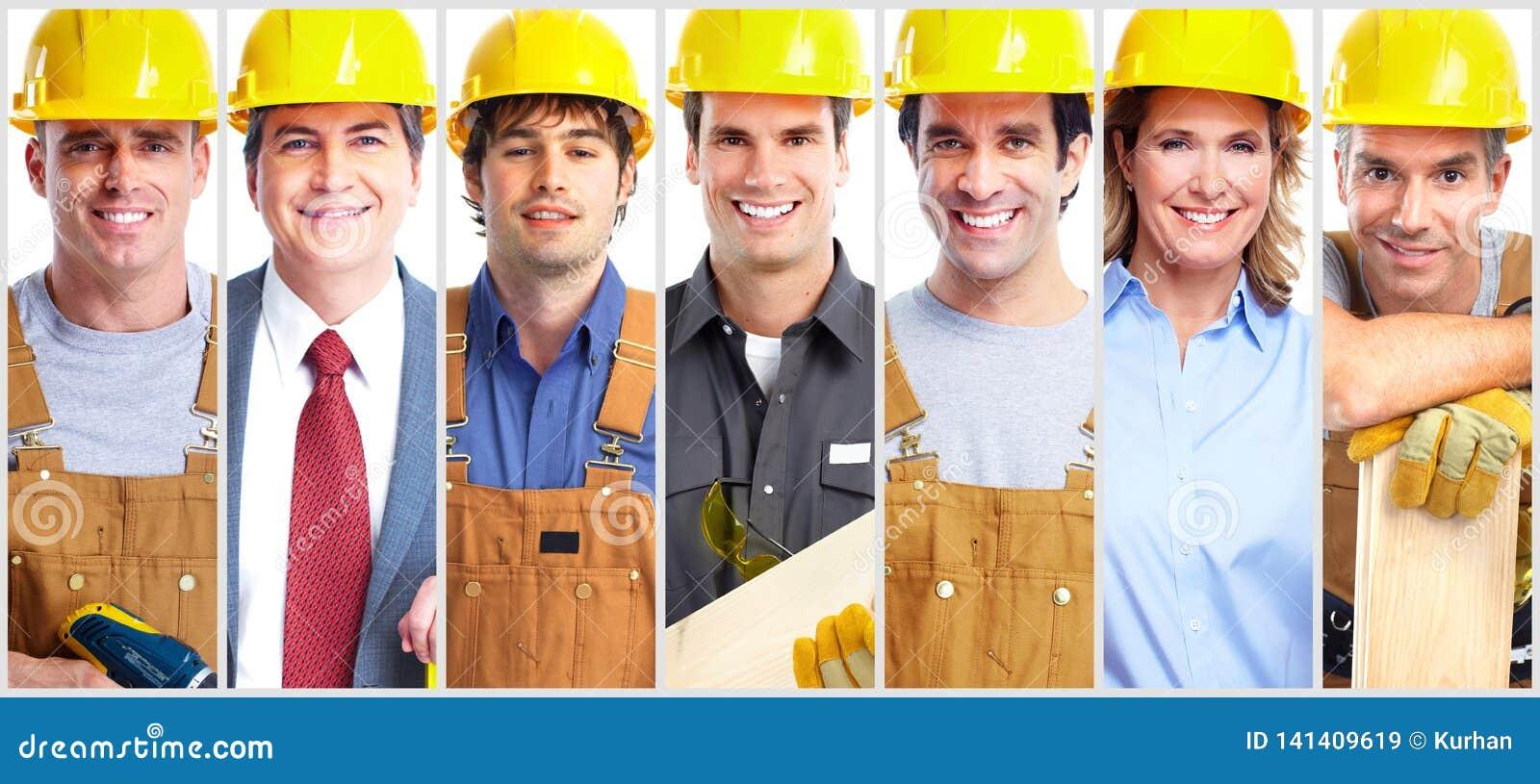 Grupo del trabajador del contratista