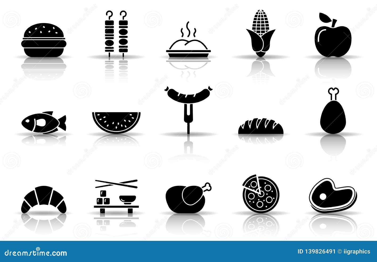 Grupo do ícone do alimento