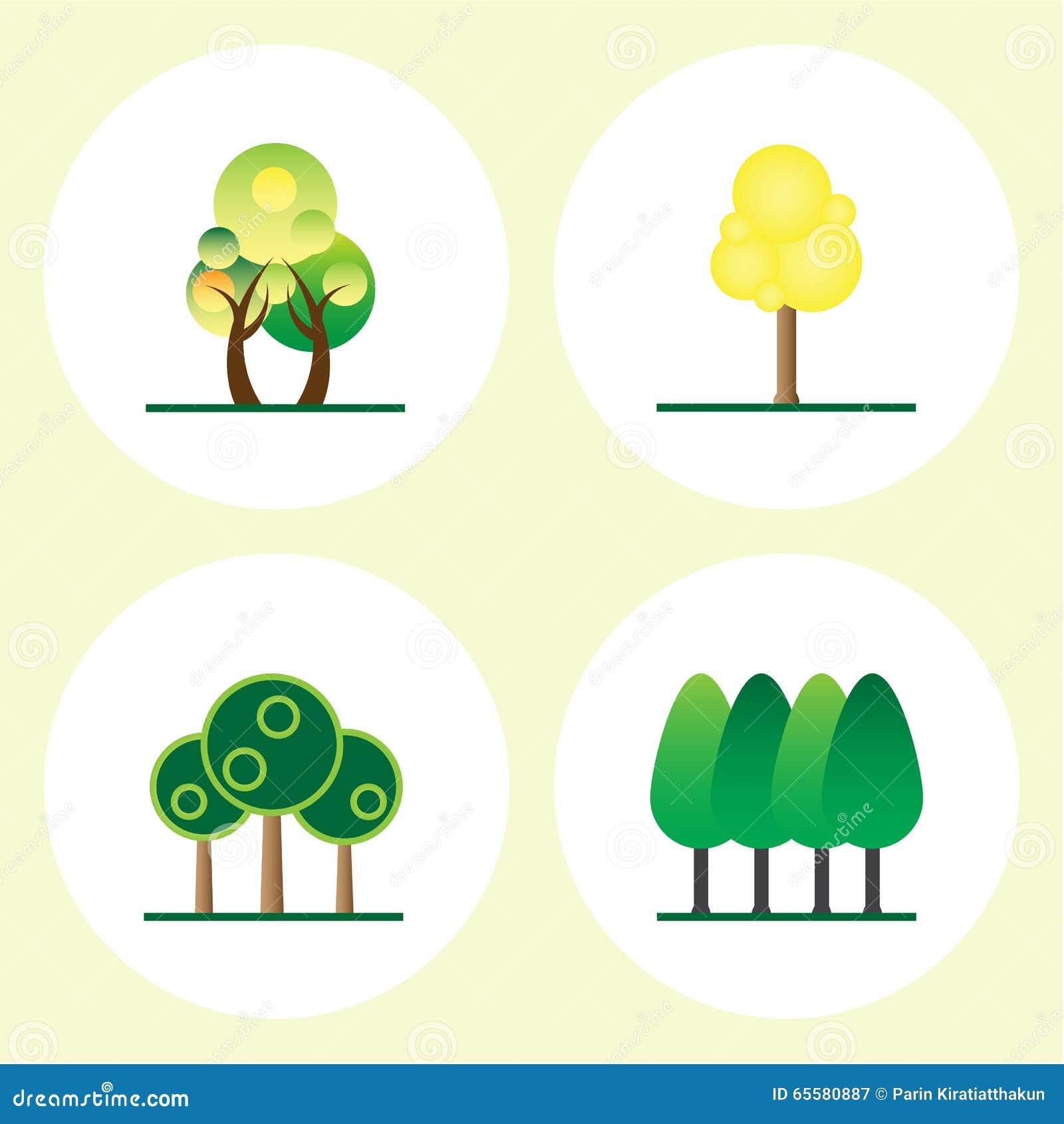 Grupo do ícone da árvore