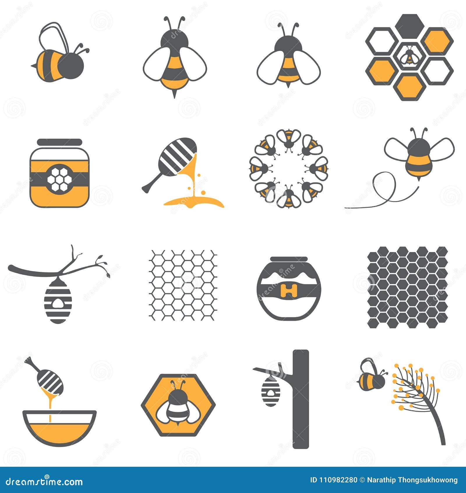 Grupo do ícone da abelha