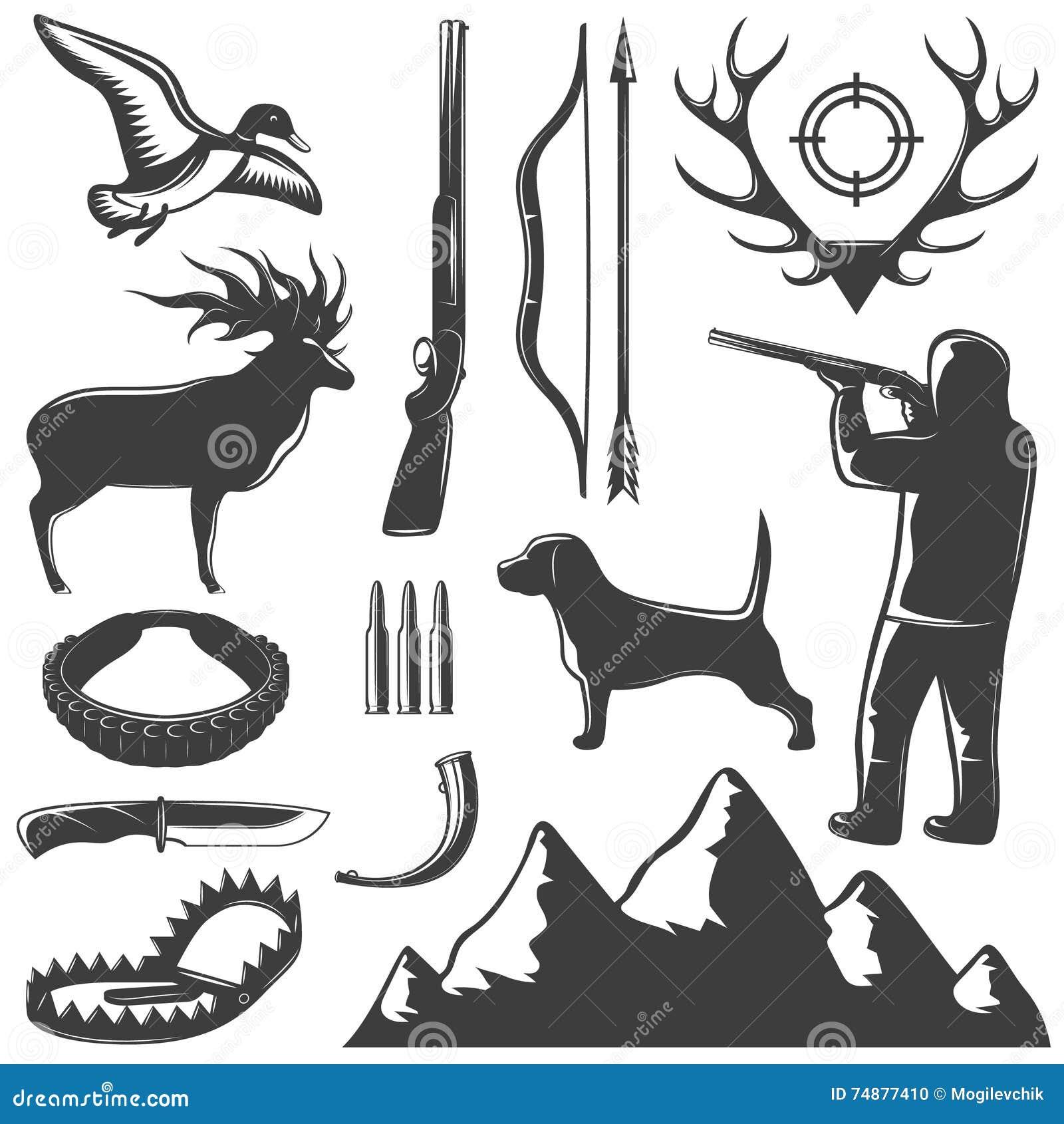 Grupo do ícone da caça