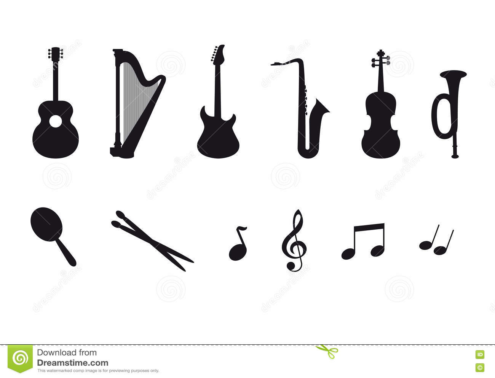 Grupo do ícone de instrumentos musicais