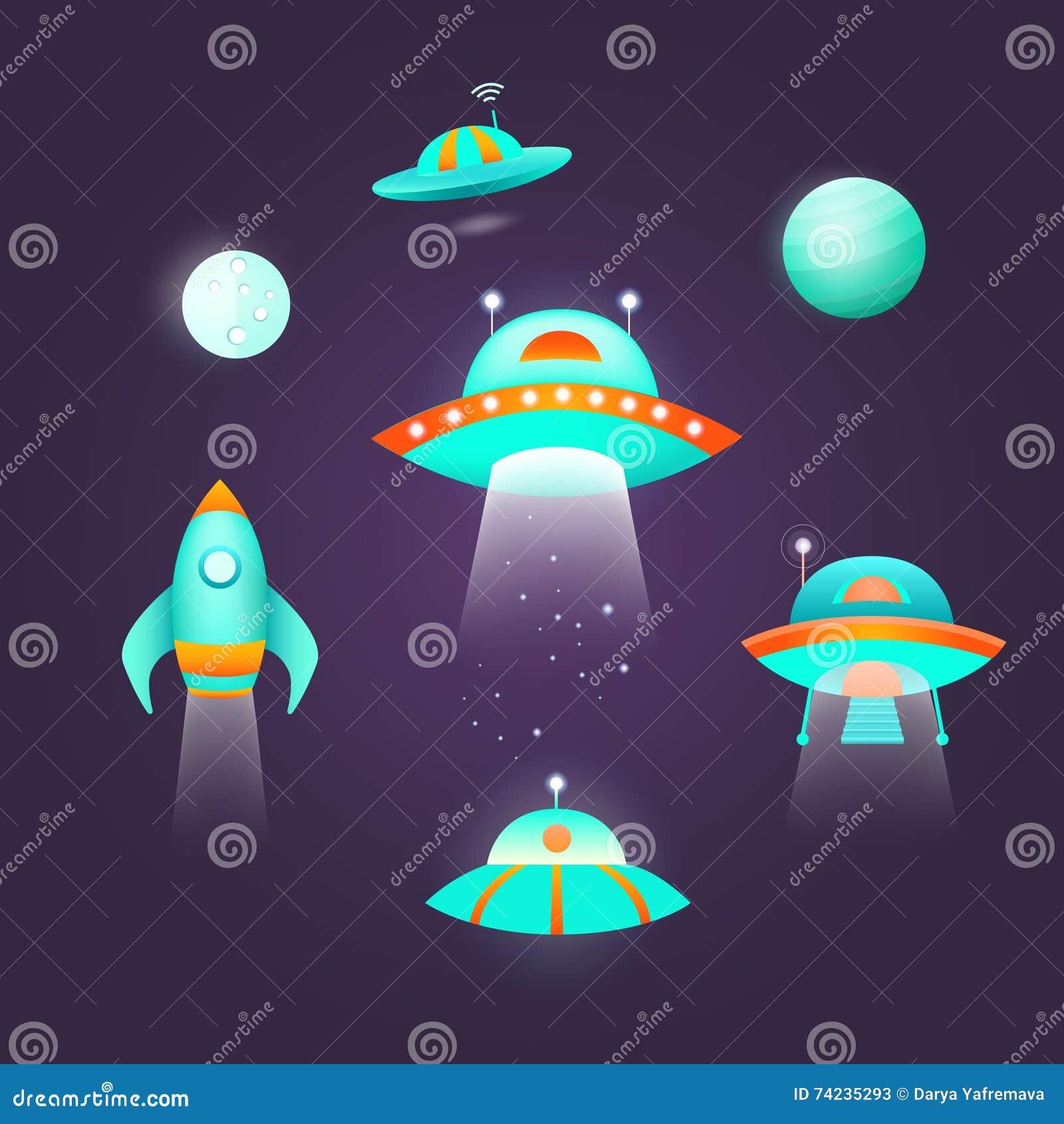 Grupo do ícone do espaço