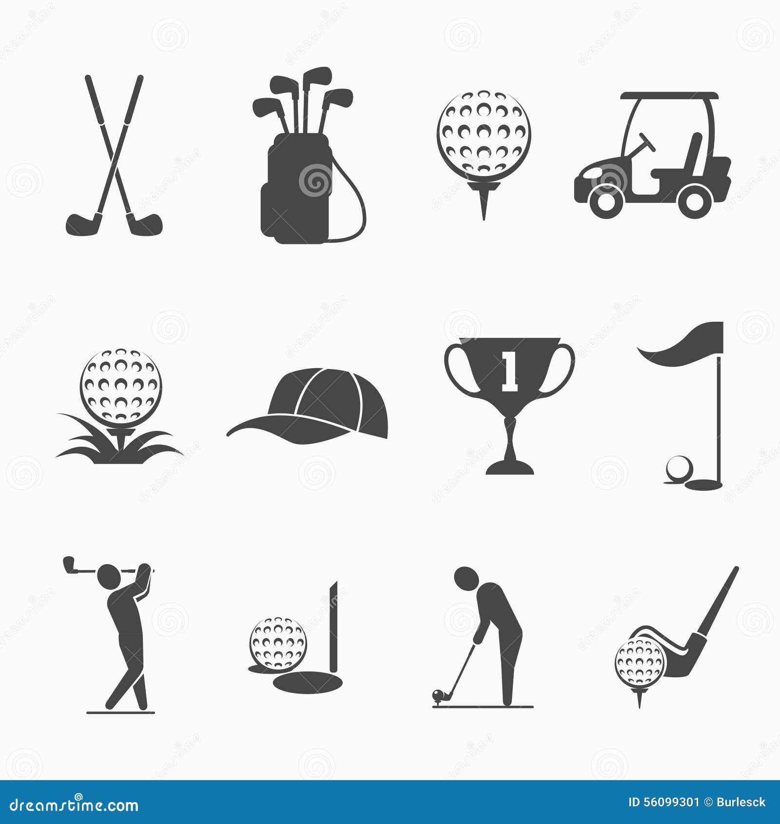 Grupo do ícone do golfe