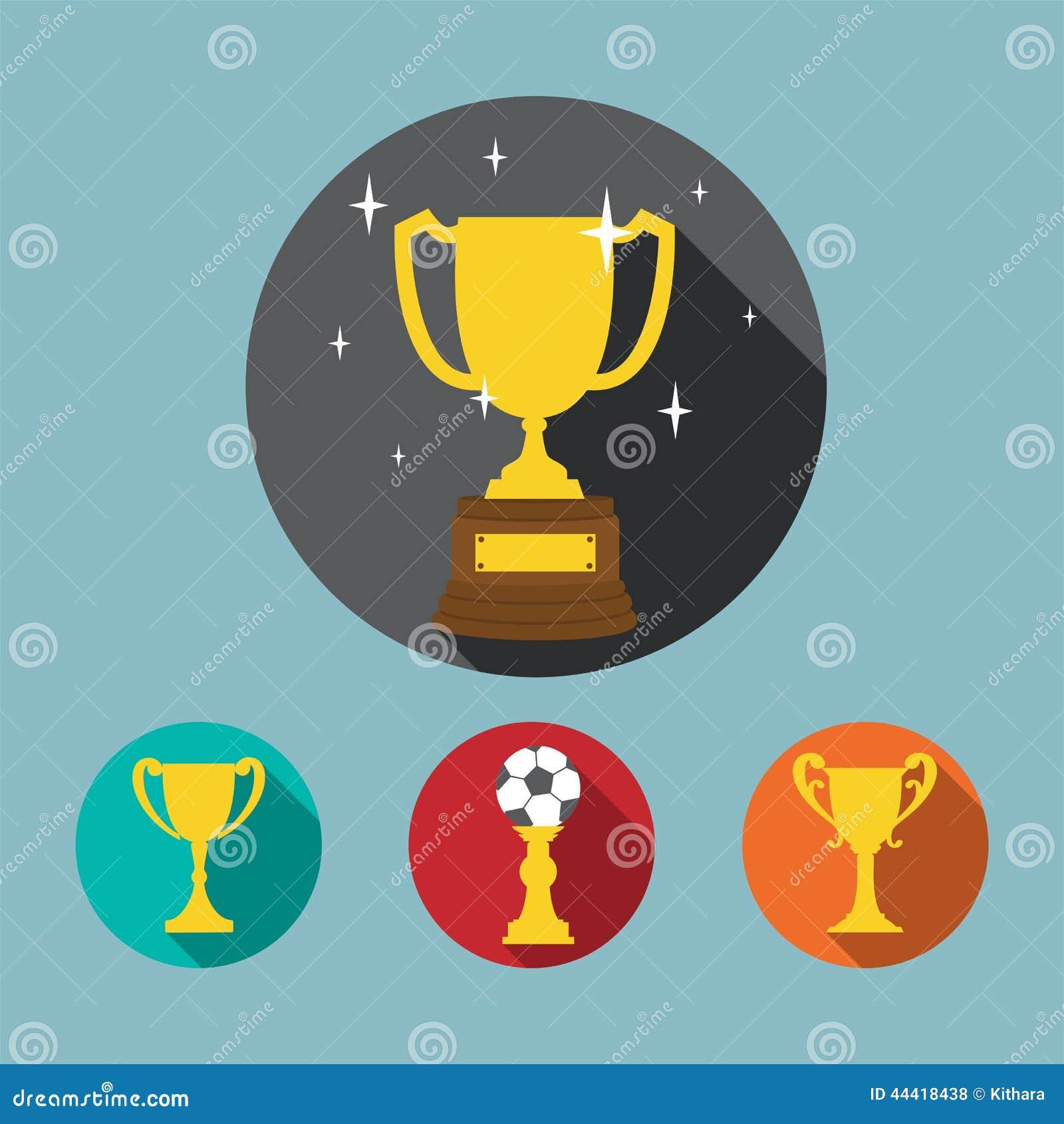 Grupo do ícone do troféu