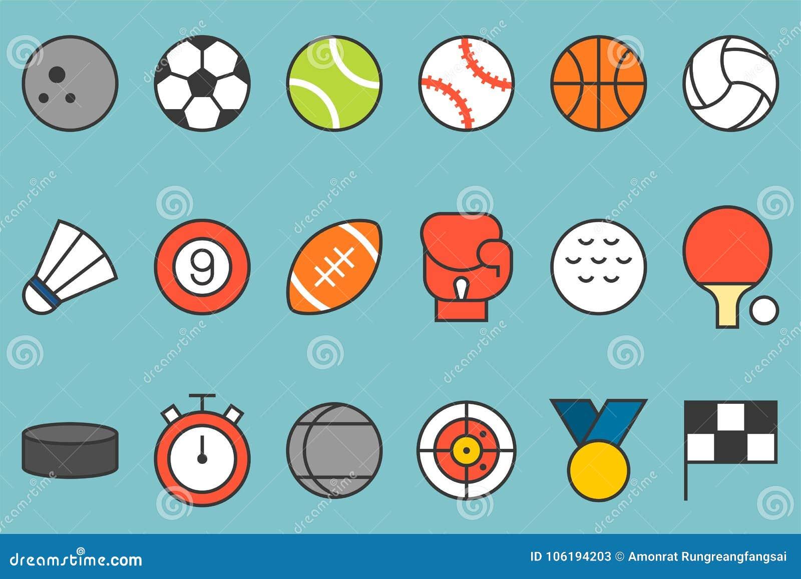 Grupo do ícone dos esportes