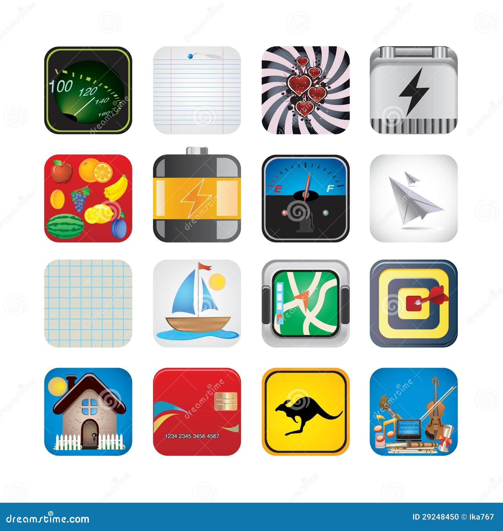 Download Grupo do App de ícones ilustração do vetor. Ilustração de seta - 29248450