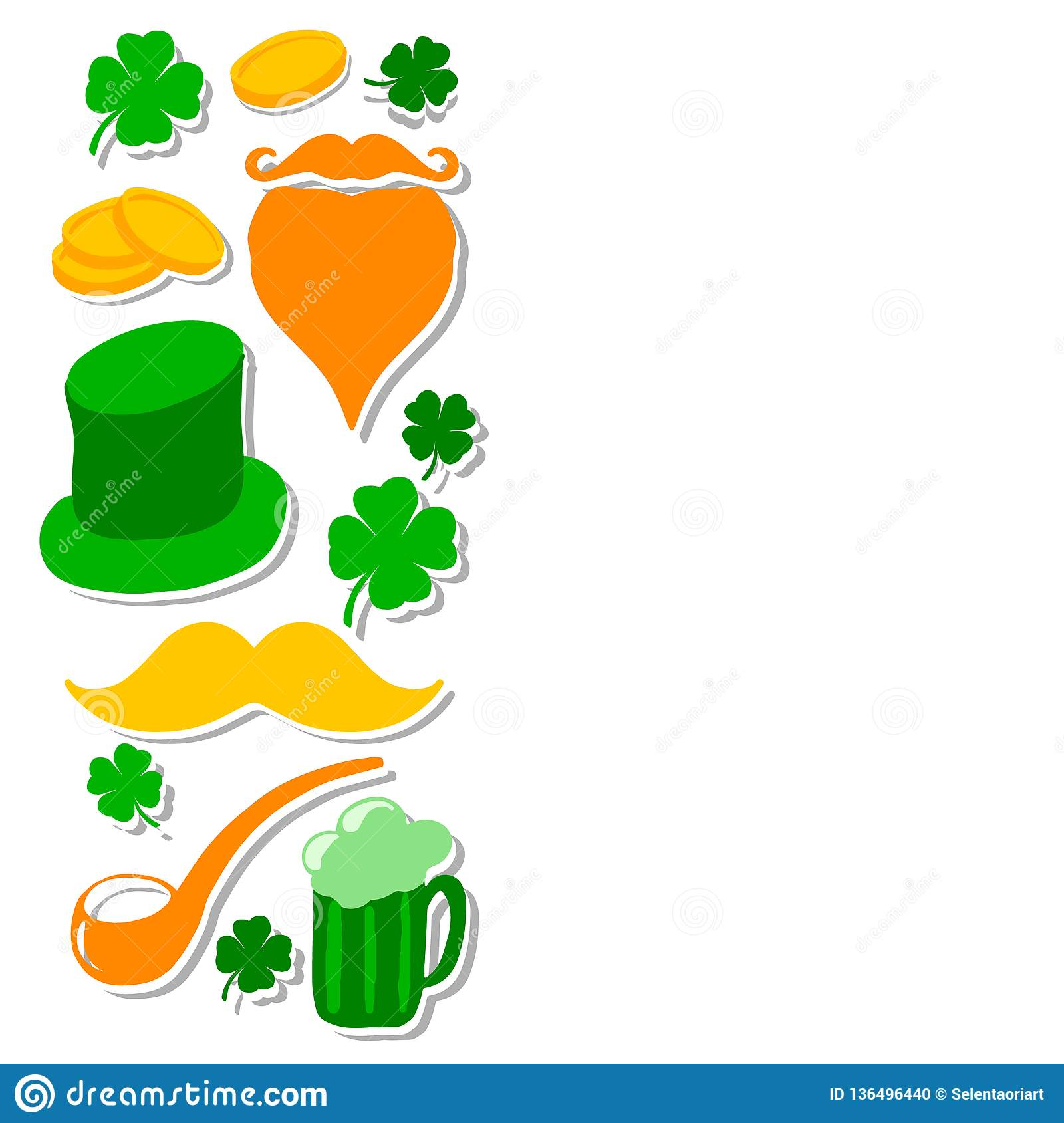 Grupo do dia do St Patricks com