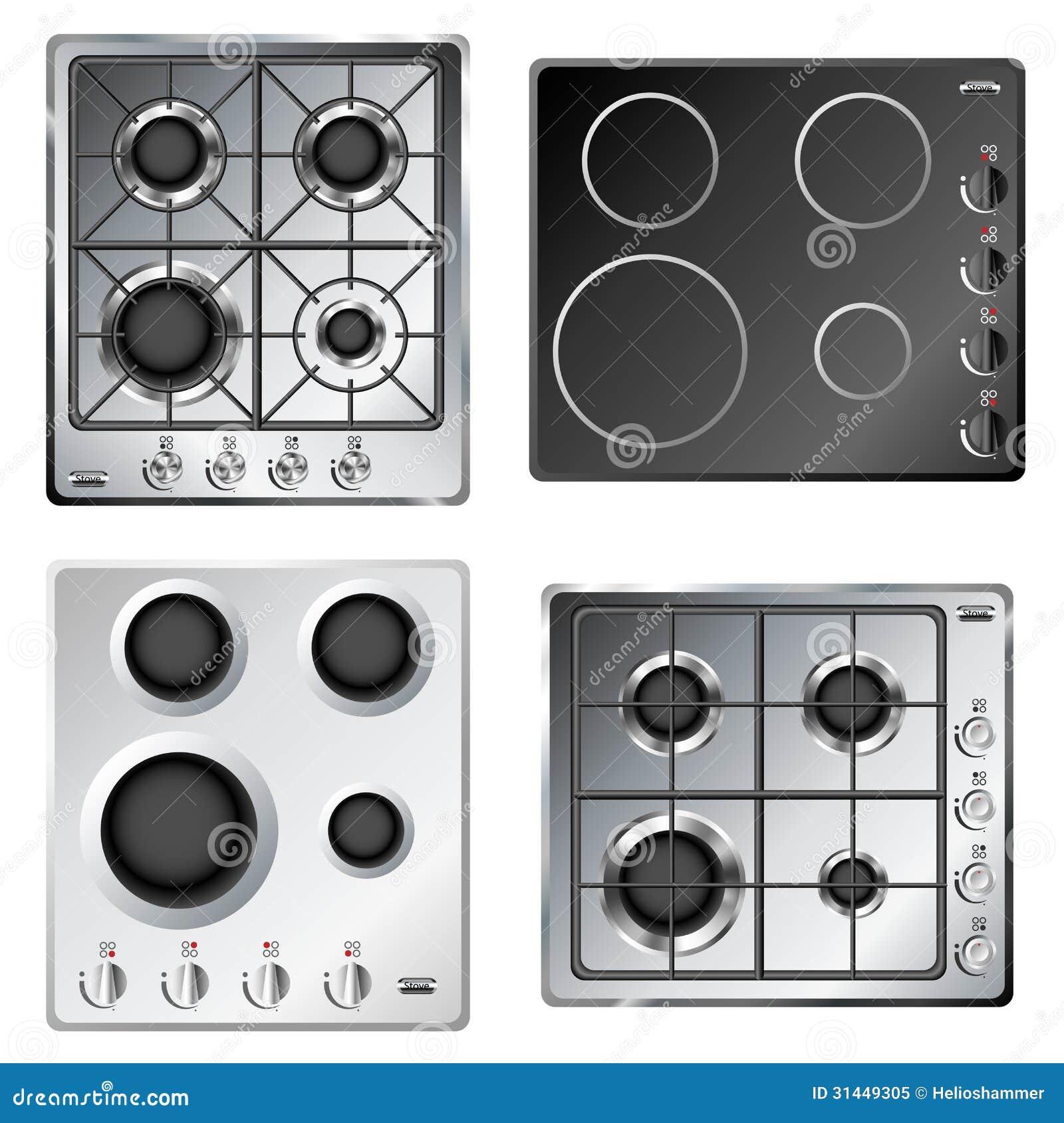 Hob Do Fogão De Cozinha Foto de Stock Royalty Free Imagem: 31449305 #82A328 1300 1390