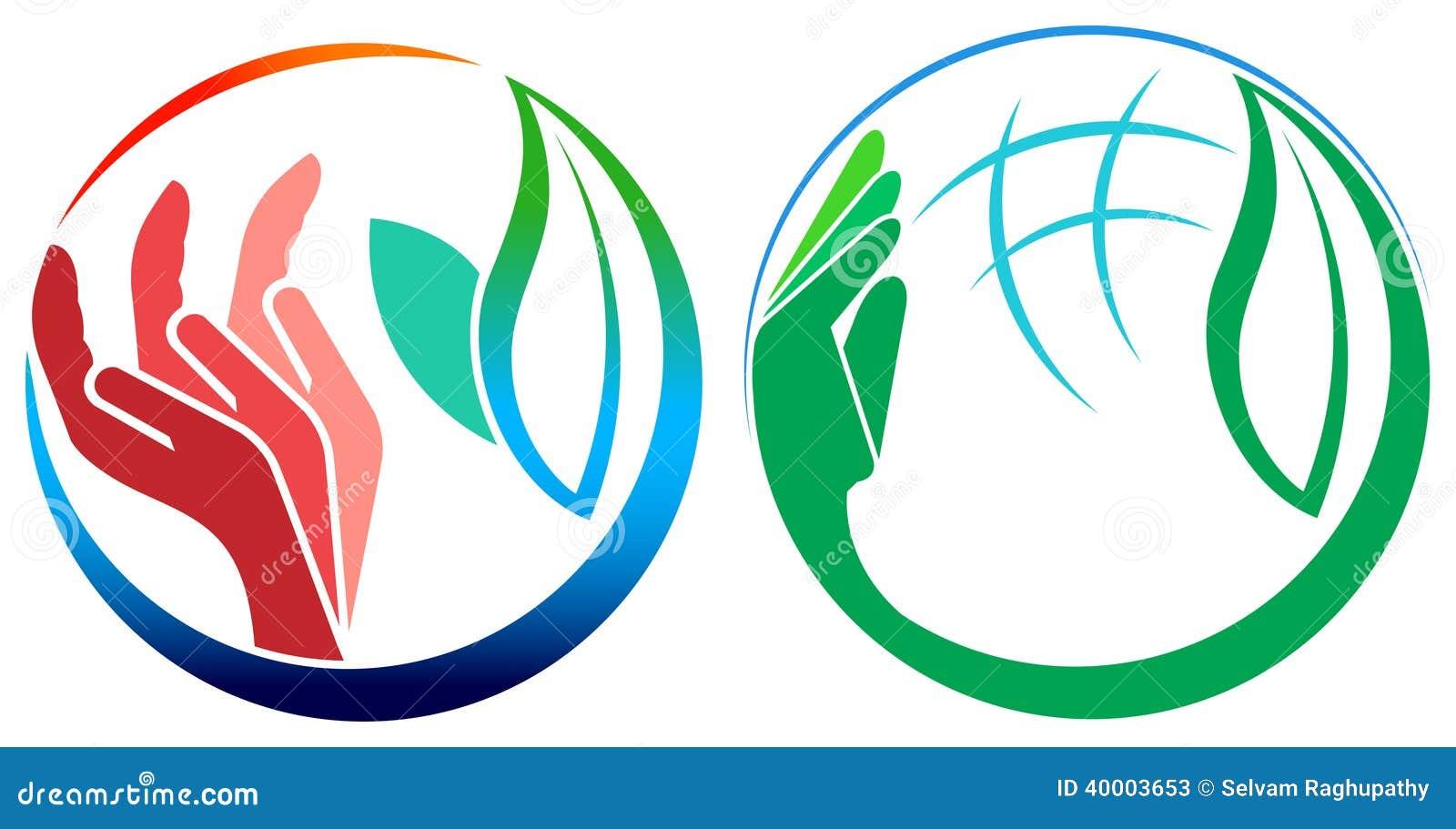 Grupo do logotipo das folhas