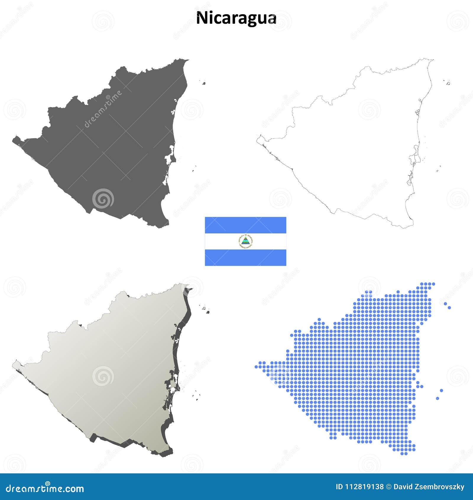 Grupo do mapa do esboço de Nicarágua