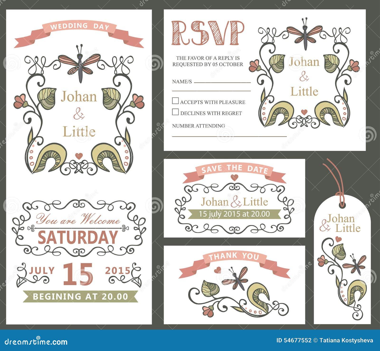 Grupo do molde do projeto do casamento do vintage Decoração floral