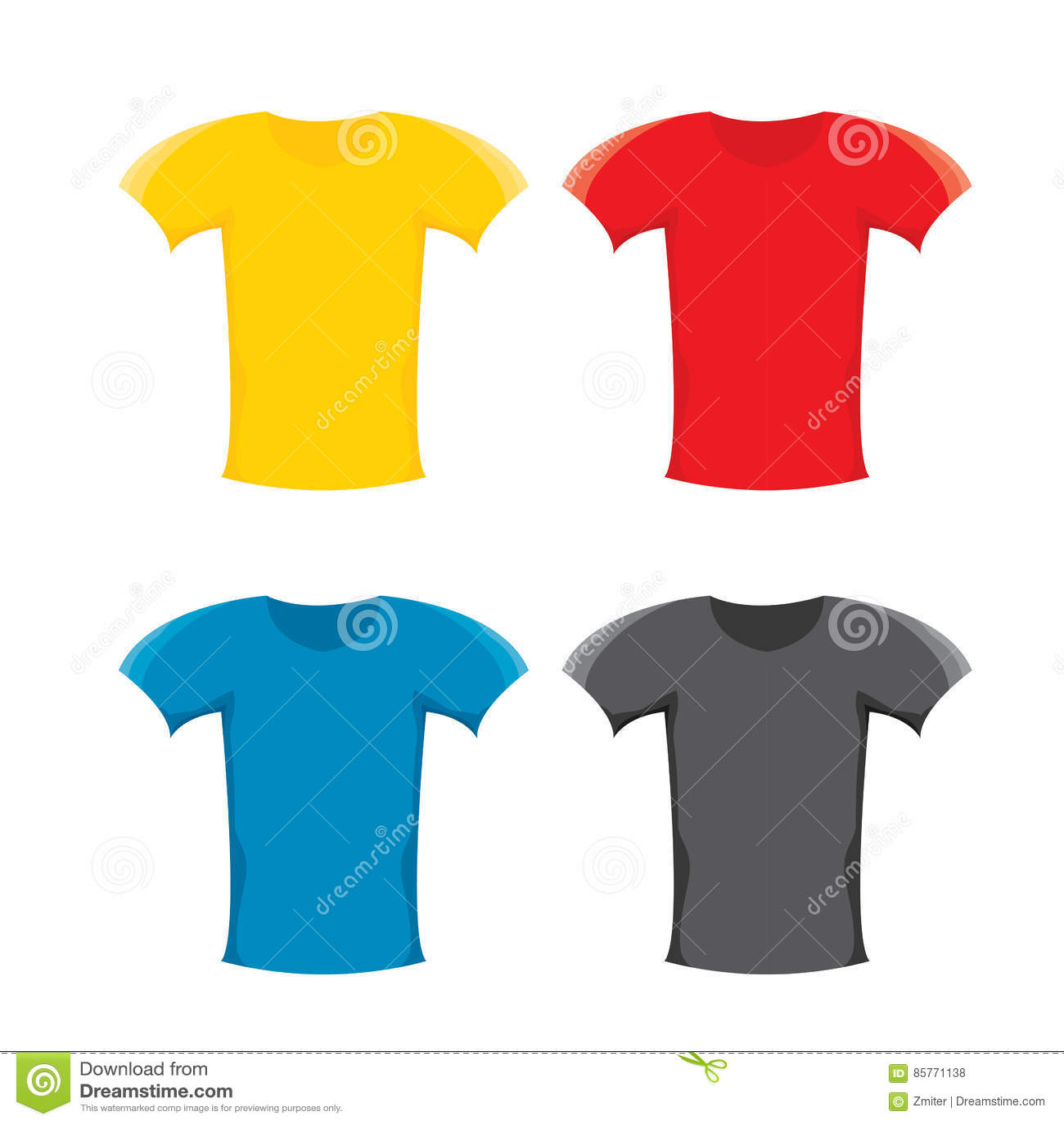 Grupo do molde do projeto do t-shirt da placa da cor do vetor