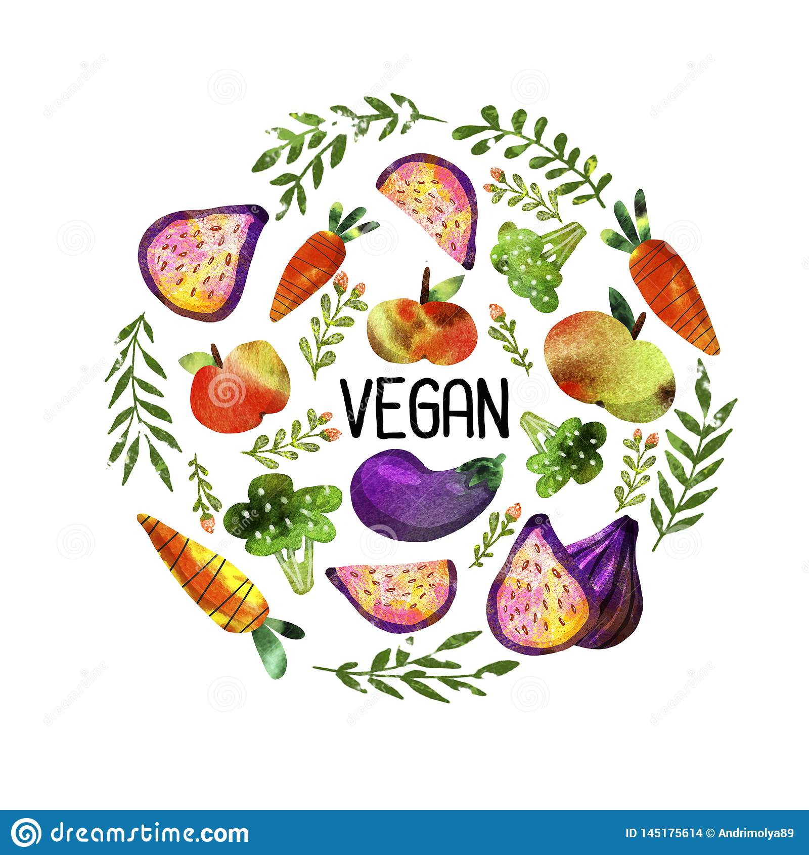 Grupo do vegetariano com vegetais e frutos
