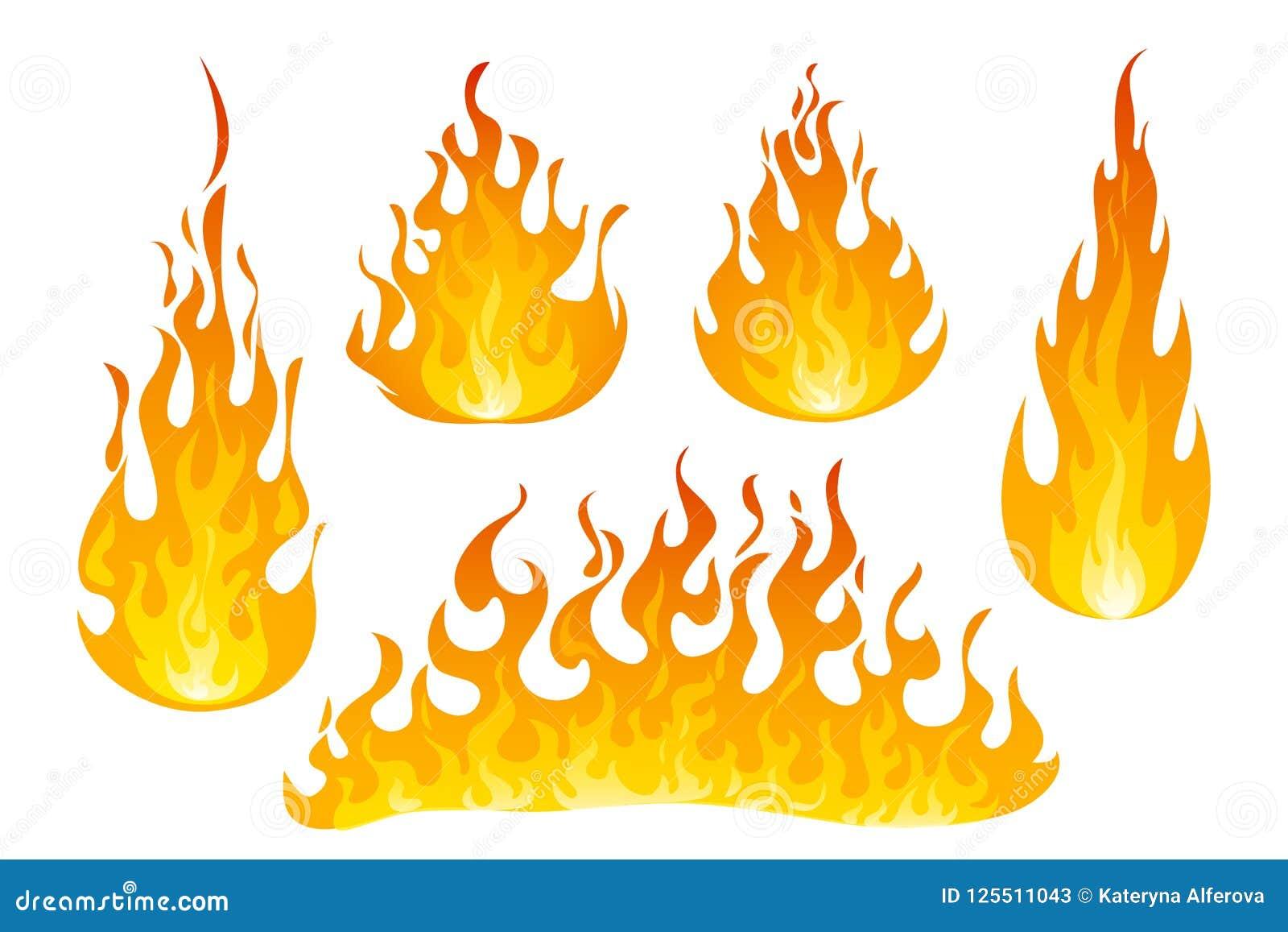 Grupo do vetor das chamas do fogo