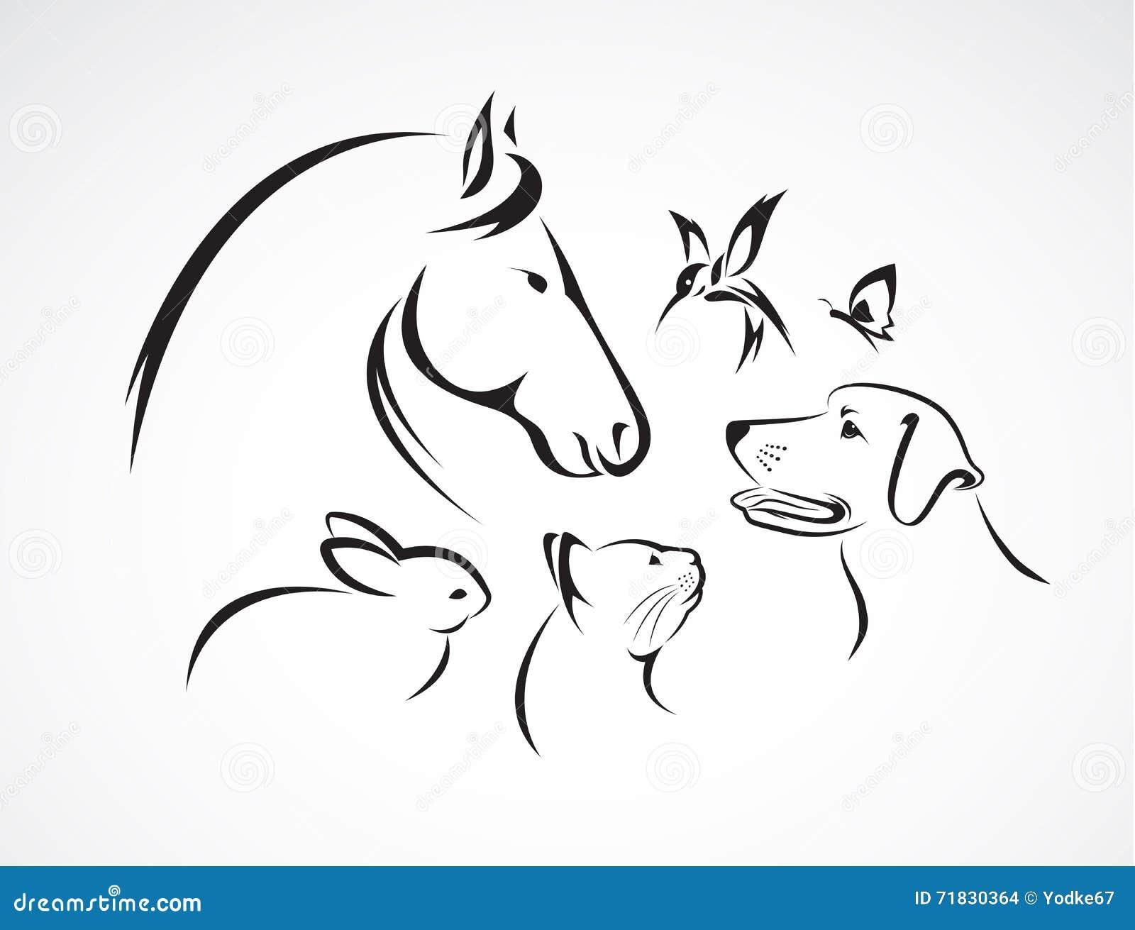 Grupo do vetor de animais de estimação