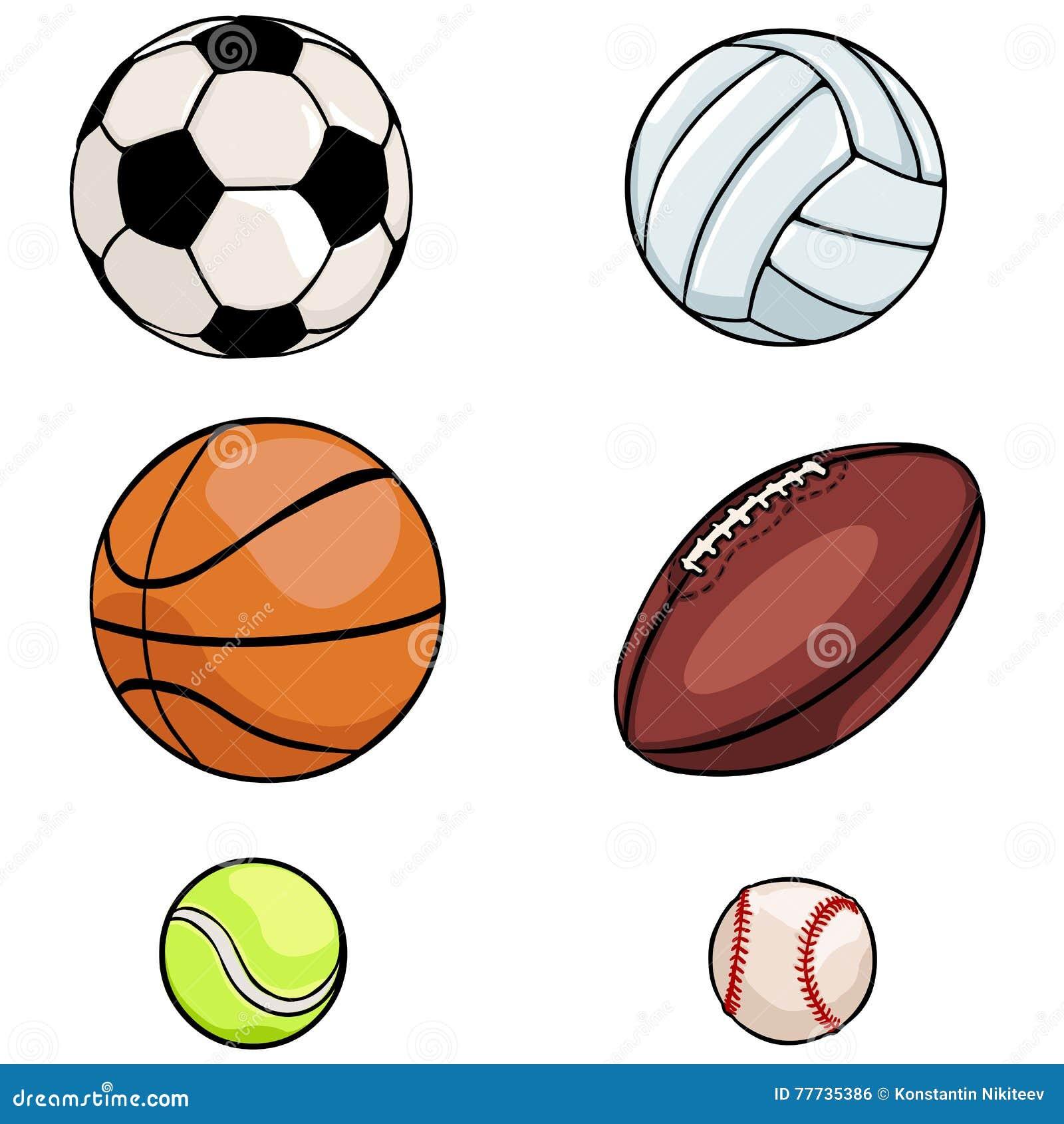 Grupo do vetor de bolas dos esportes no fundo branco 5a2cb6538894a