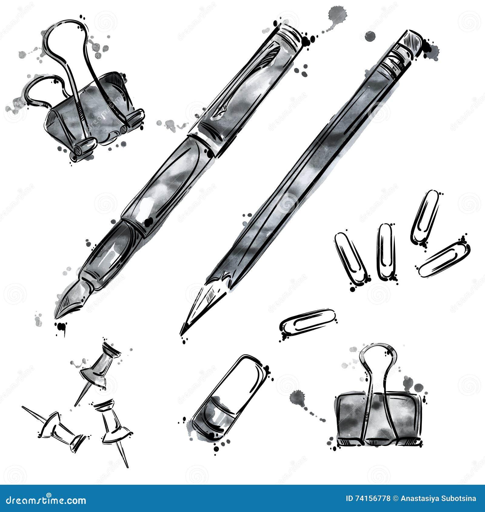 Grupo do vetor de ferramentas Isolado no fundo branco