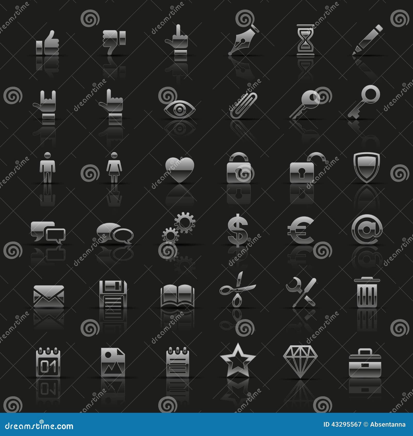 Grupo dos ícones de prata