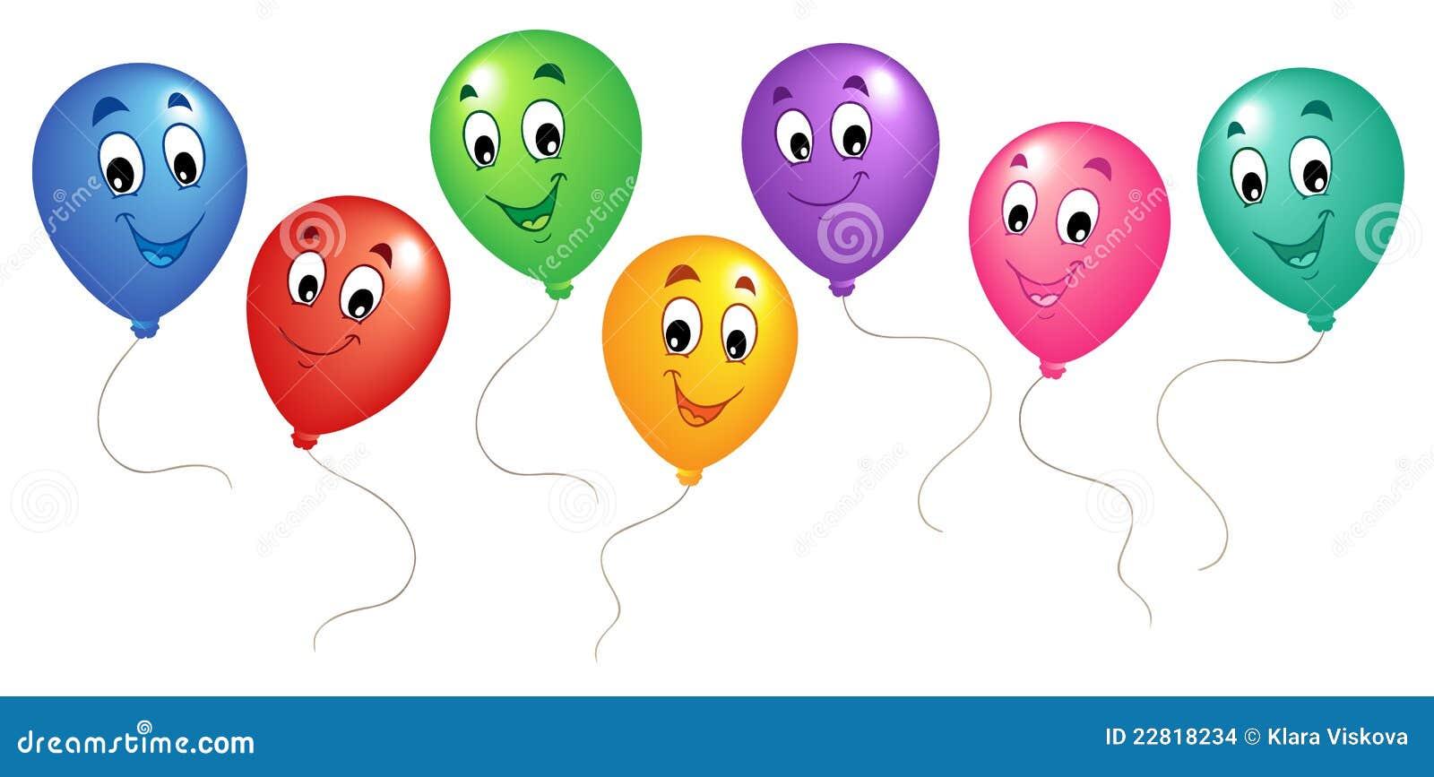 Crianças Que Jogam O Futebol Nos Desenhos Animados Do: Grupo Dos Balões 3 Dos Desenhos Animados Imagens De Stock