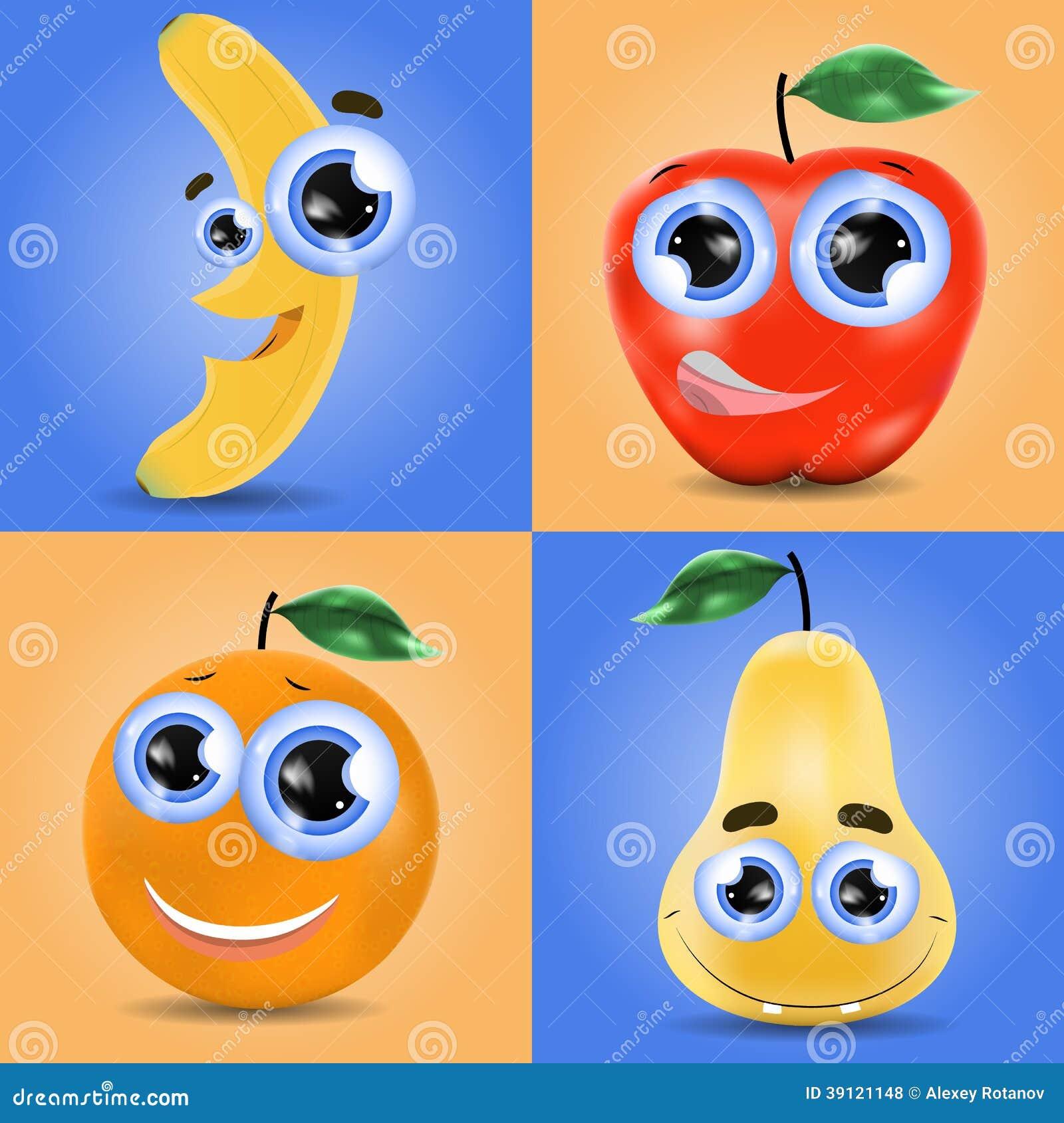 Grupo engraçado do fruto