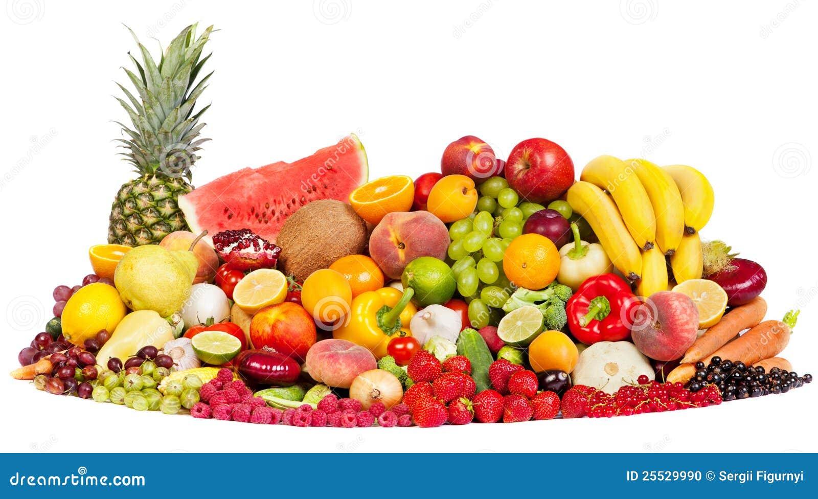 grupo enorme de verduras frescas y de frutas foto de archivo
