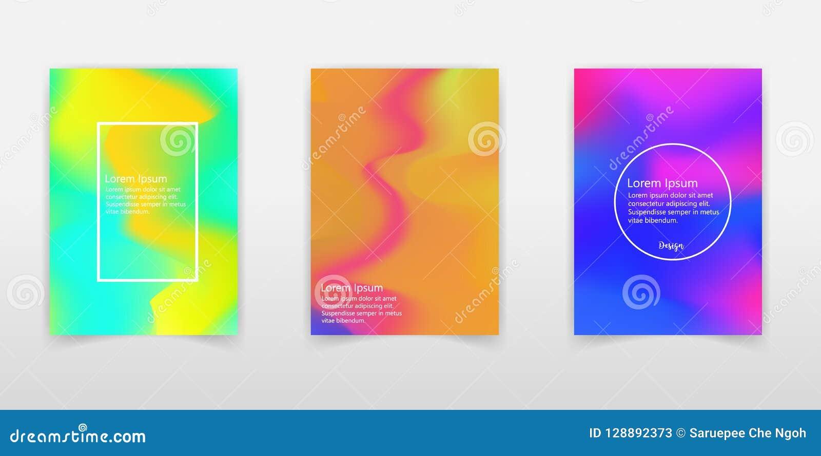 Grupo holográfico do cartaz Abstraia fundos Hologra futurista
