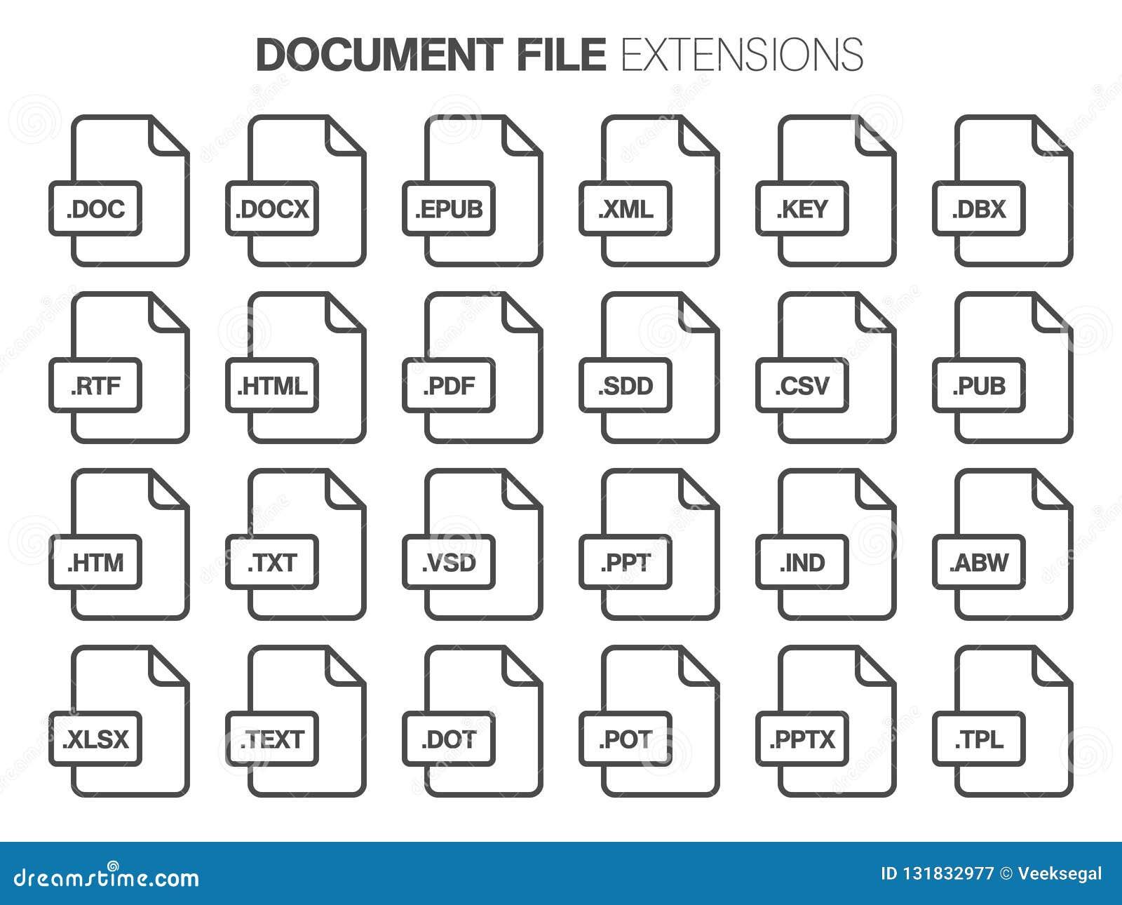 Grupo liso do ícone do estilo Documento, tipo de arquivo do texto, extencion Formato de documento pictogram