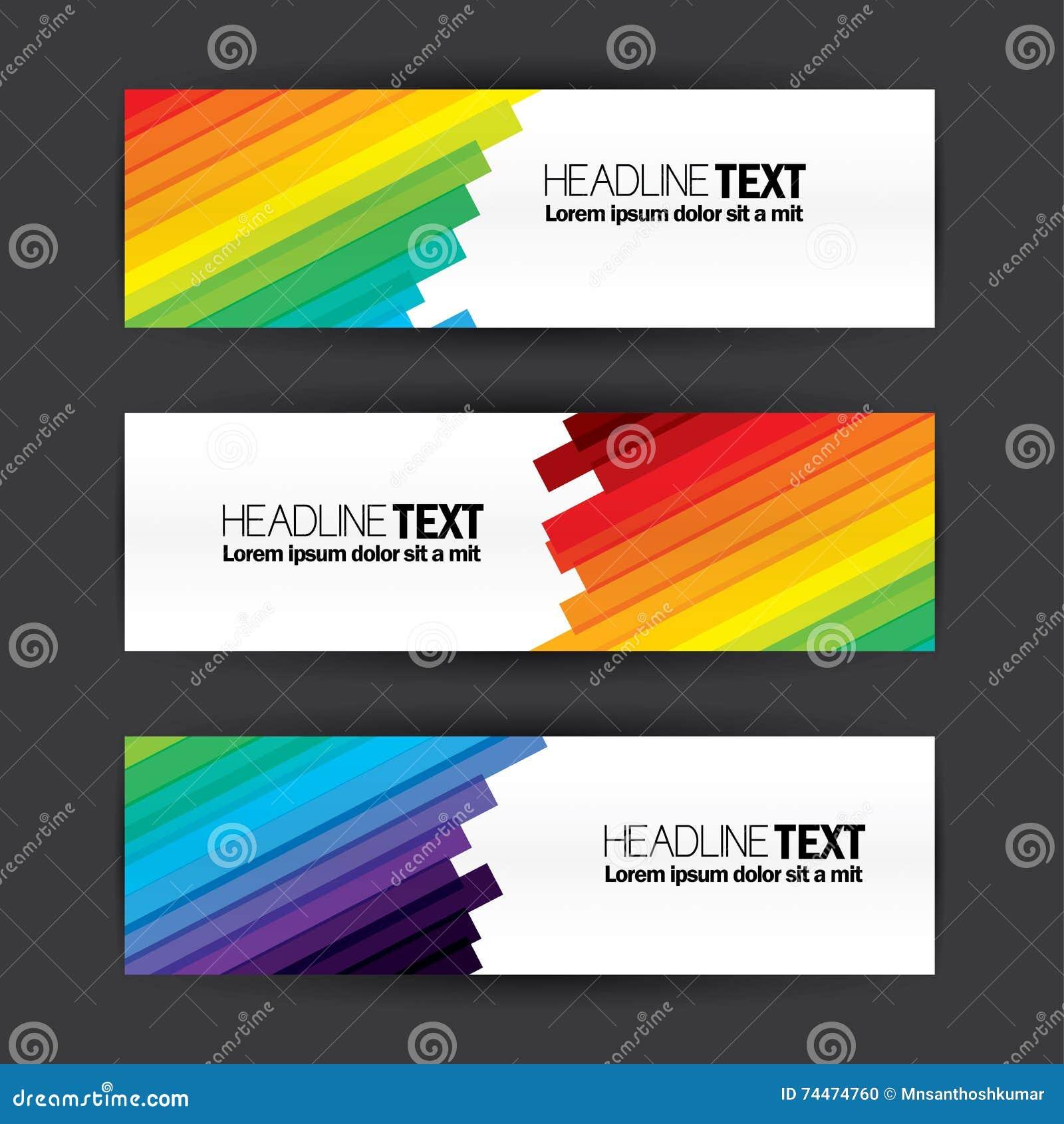 Grupo liso do vetor do molde do projeto das bandeiras coloridas do negócio