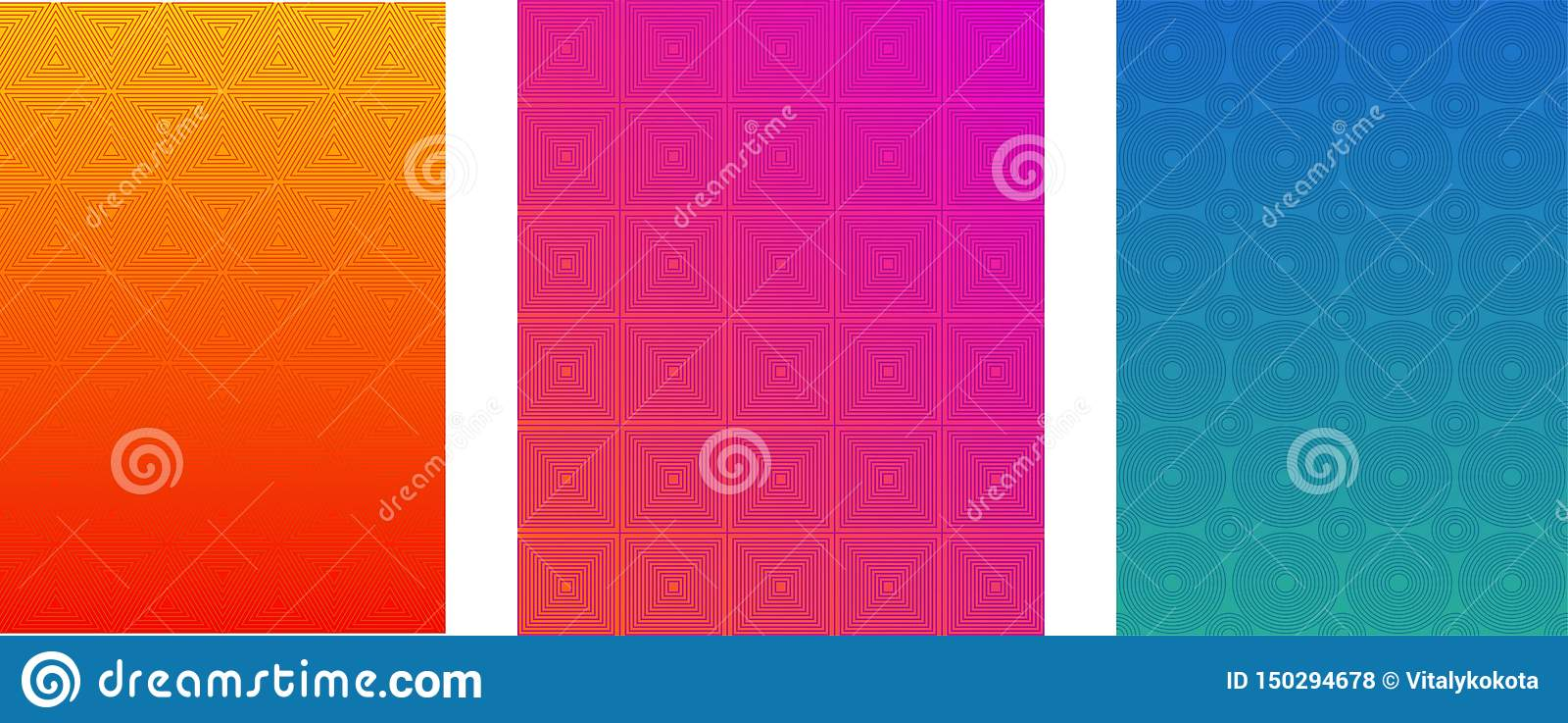 Grupo mínimo dos moldes do vetor da tampa ou do folheto Fundo brilhante do inclinação de intervalo mínimo Inseto, folheto, bandei