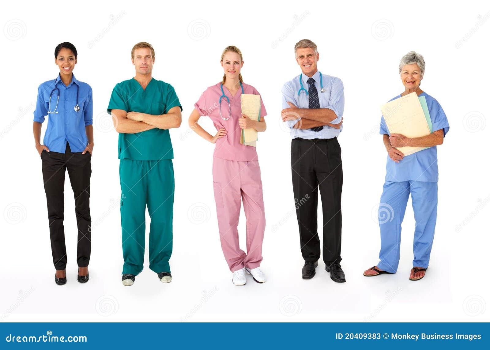 Grupo misturado de profissionais médicos