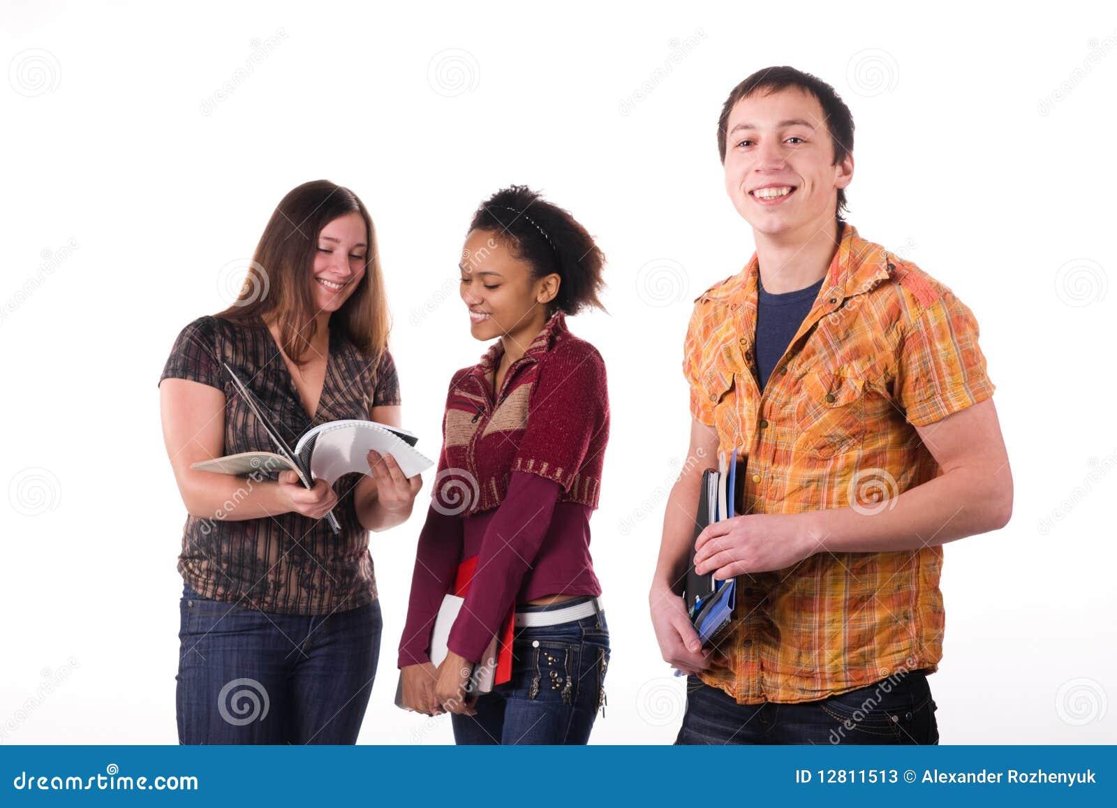 Grupo Multi-ethnic de estudantes