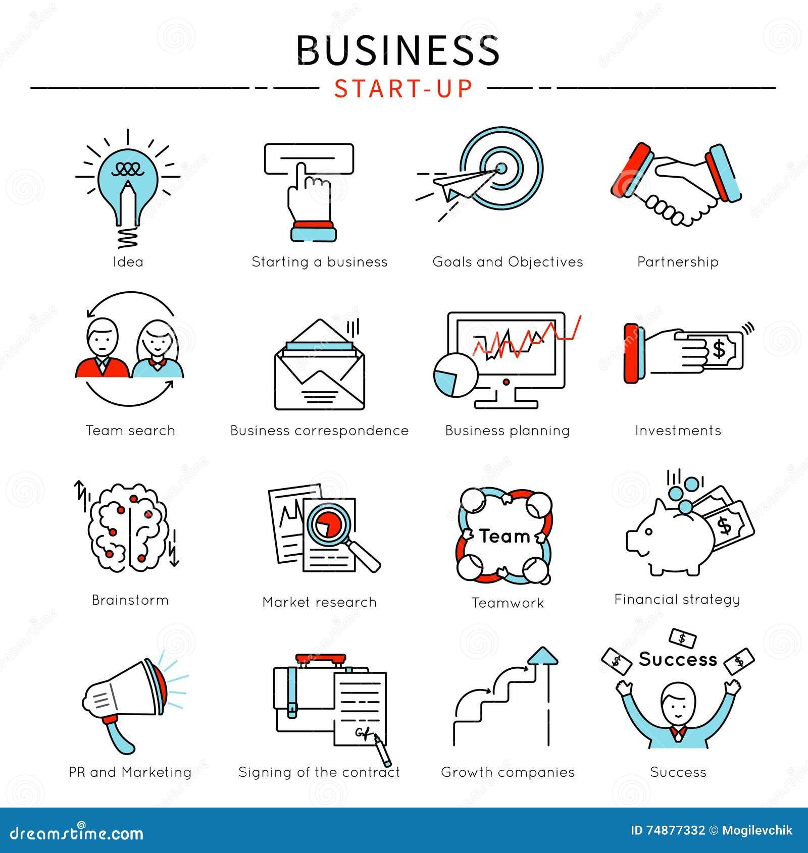 Grupo Startup do ícone da área de negócio