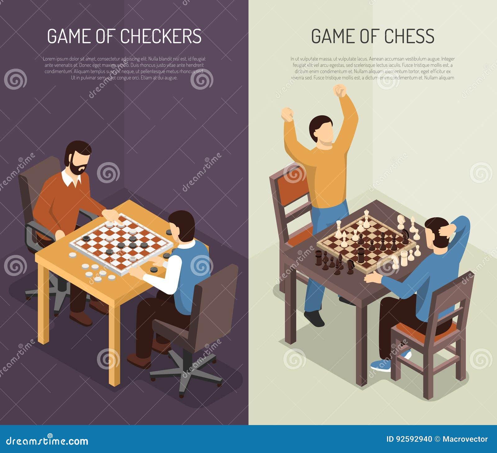 Grupo vertical da bandeira dos jogos de mesa